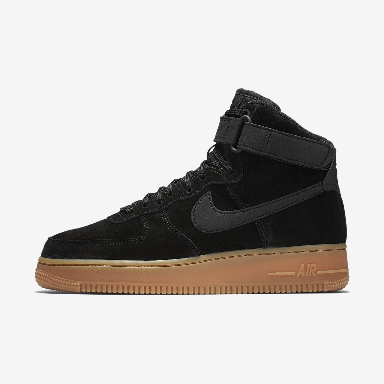 nike air force 1 black black gum nz