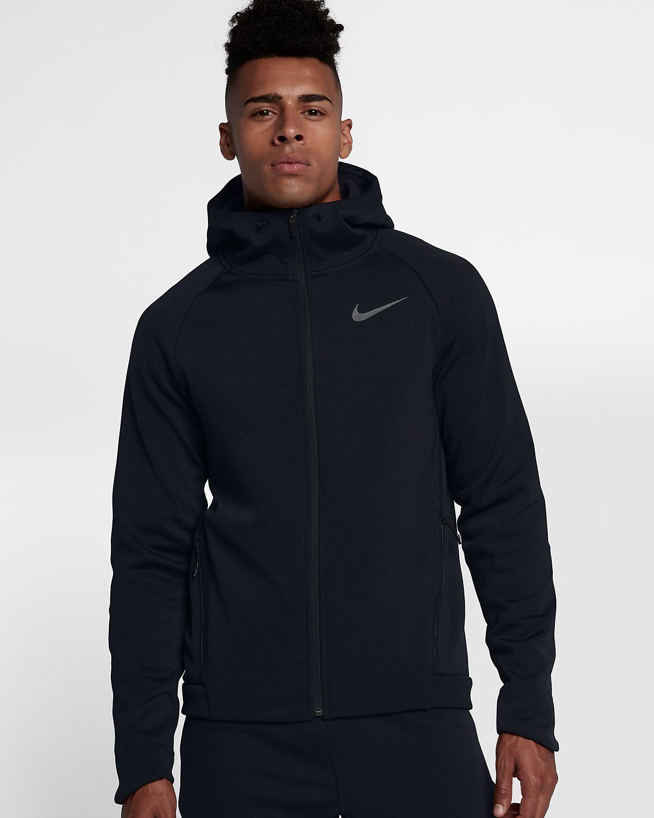 Mens Nike Therma Black Training Hoodie