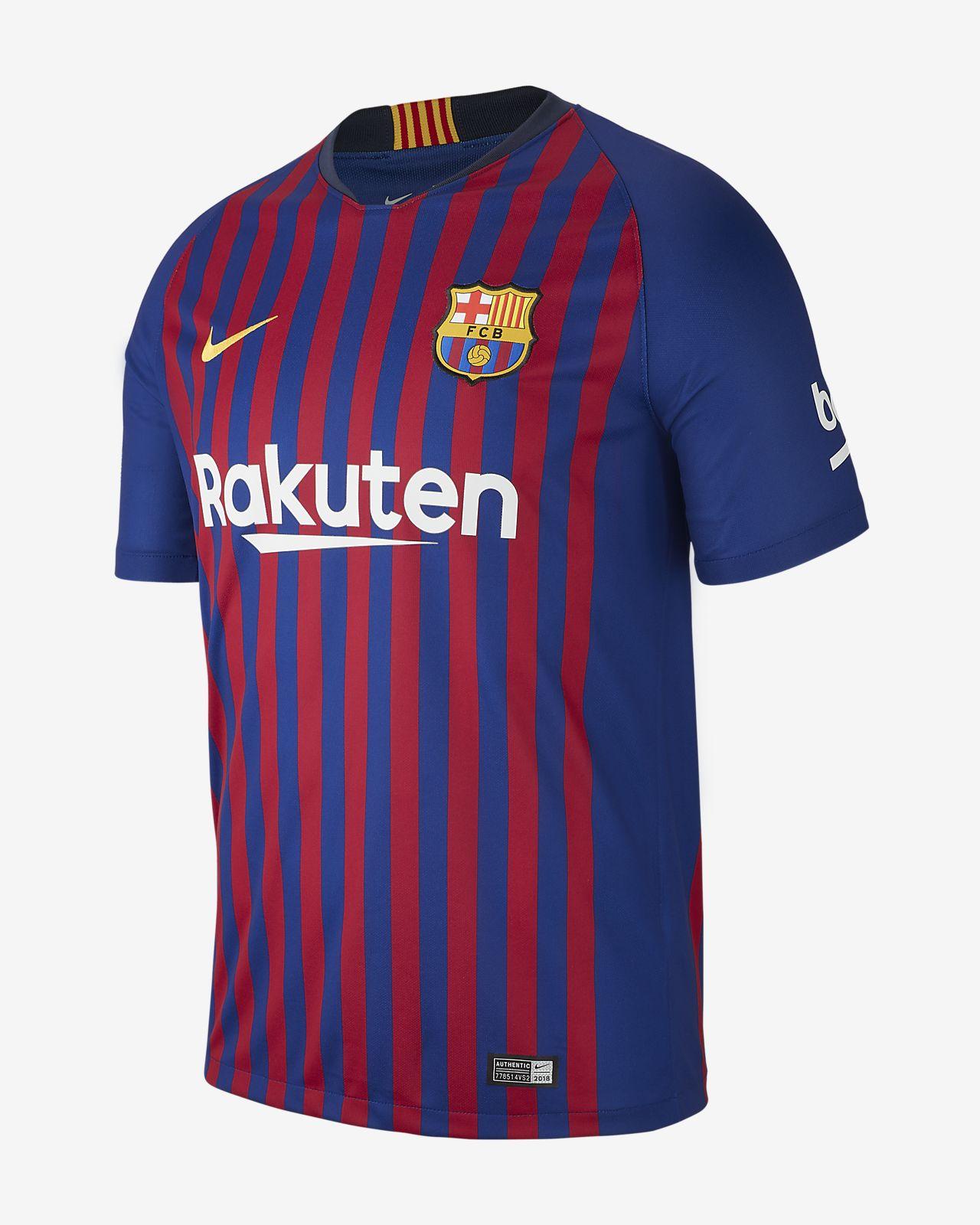 Camiseta de fútbol para hombre 2018 19 FC Barcelona Stadium Home ... 098c14d0f86