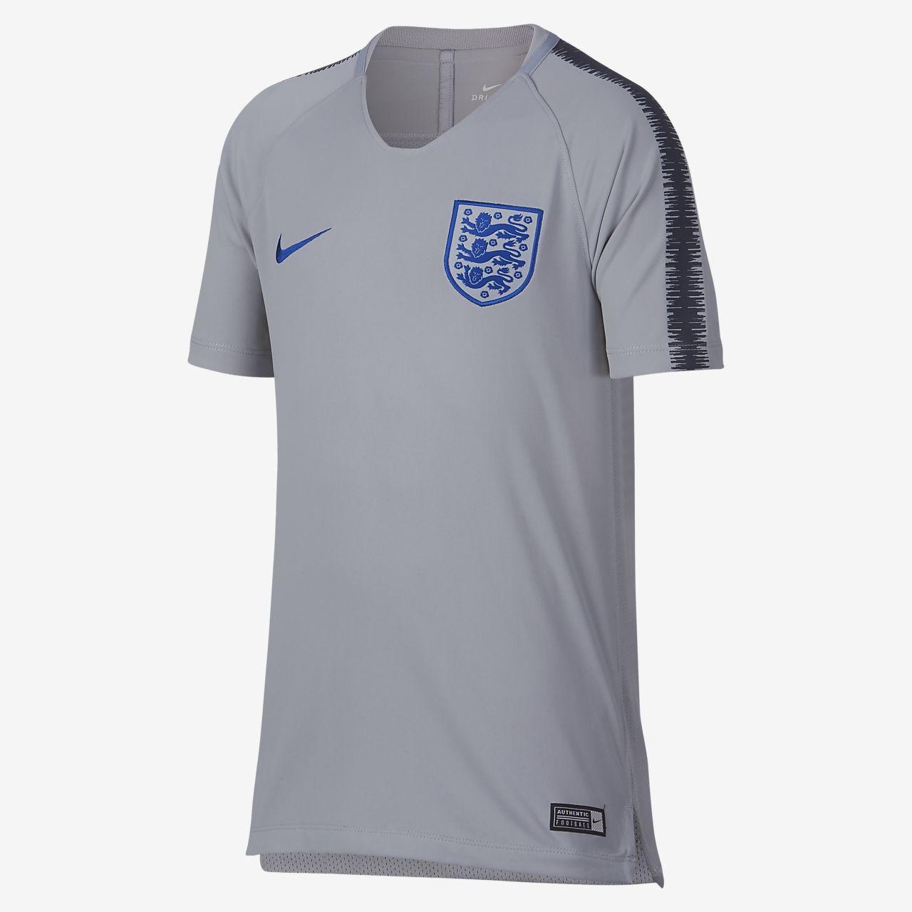 Haut de football England Breathe Squad pour Enfant plus âgé
