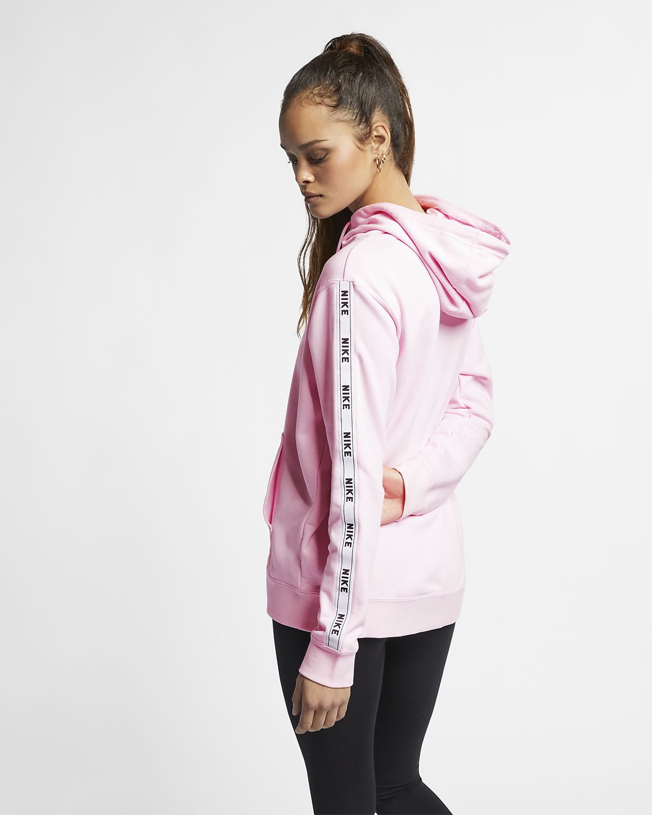 Nike Womens Logo Tape Hoodie