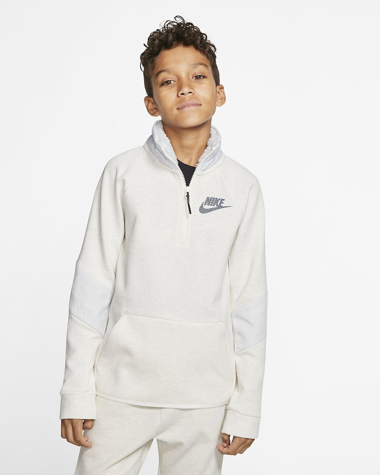 Nike Sportswear Winterized Tech Fleece Older Kids' Long-Sleeve Top