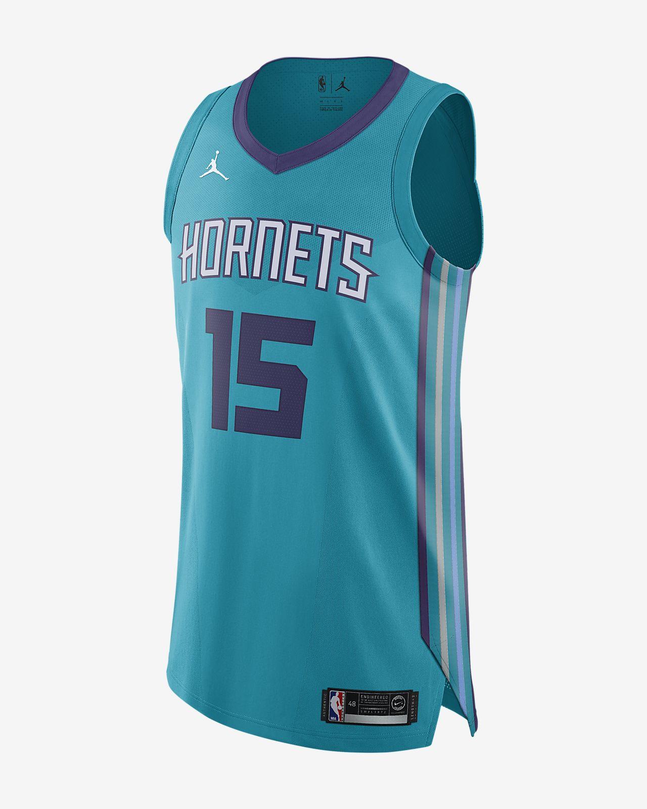 Kemba Walker Icon Edition Authentic Jersey (Charlotte Hornets) tilkoblet Jordan NBA-drakt for herre