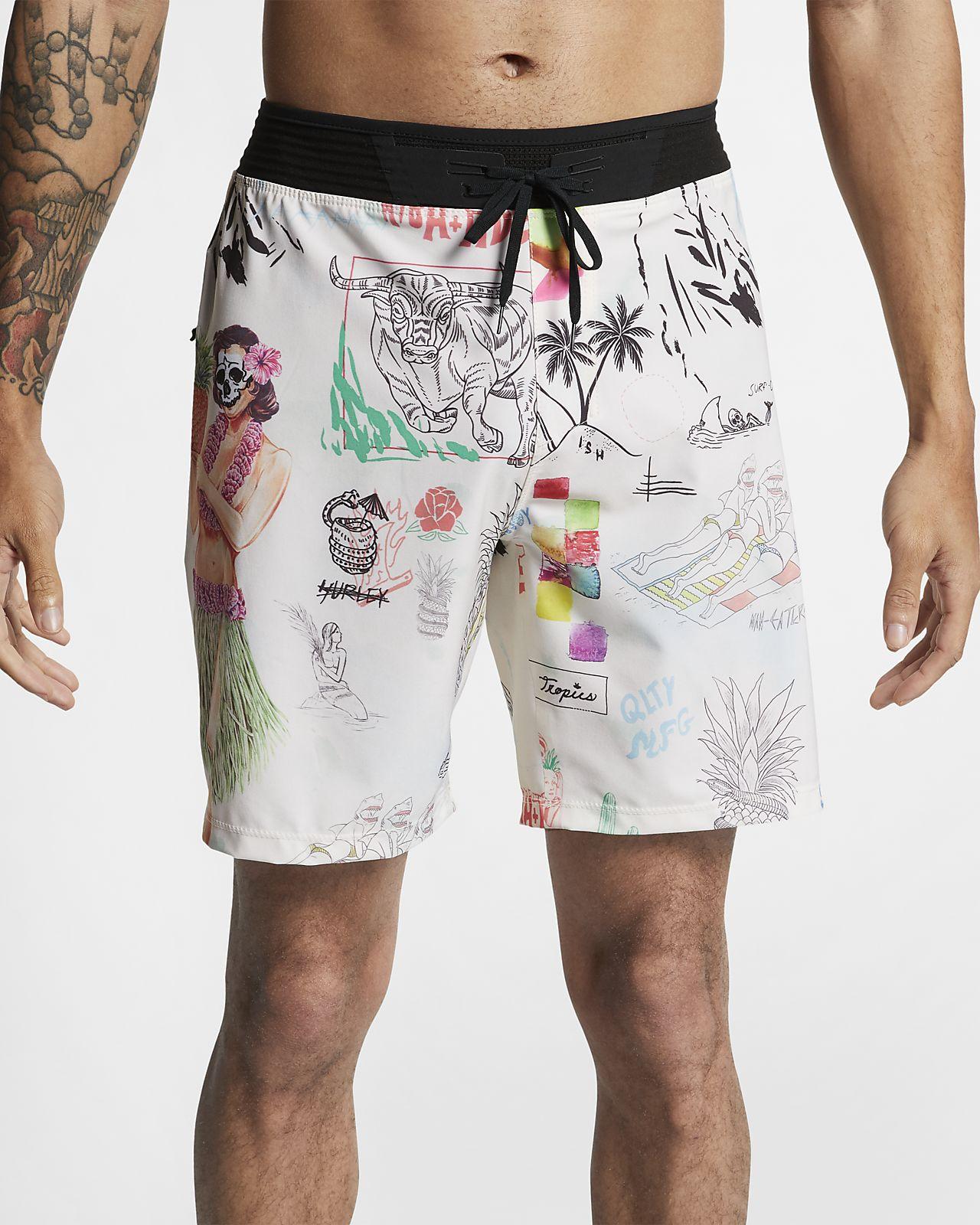 Shorts de playa de 46 cm para hombre Hurley Phantom Hyperweave Doom