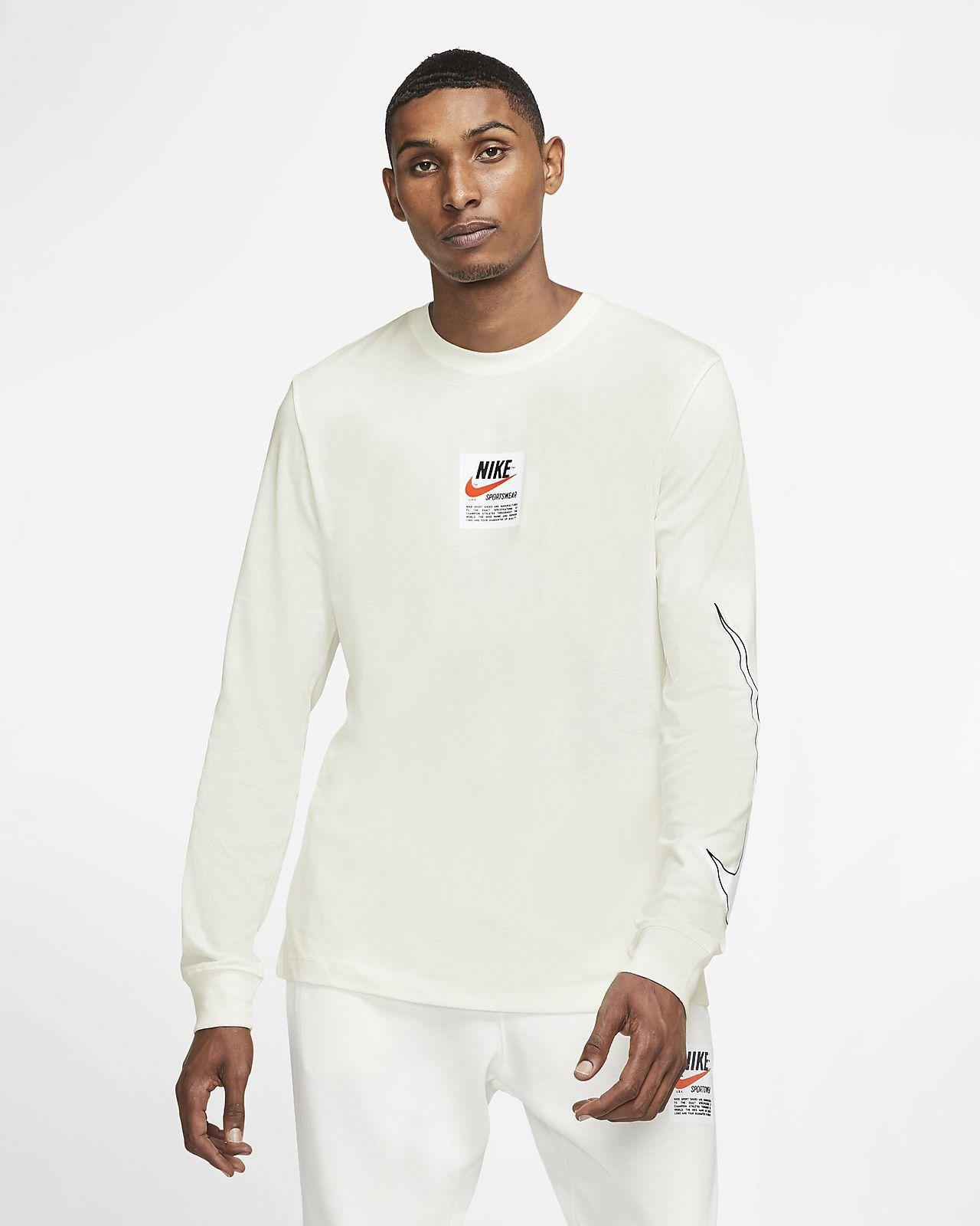 Męska koszulka z długim rękawem i nadrukiem Nike Sportswear