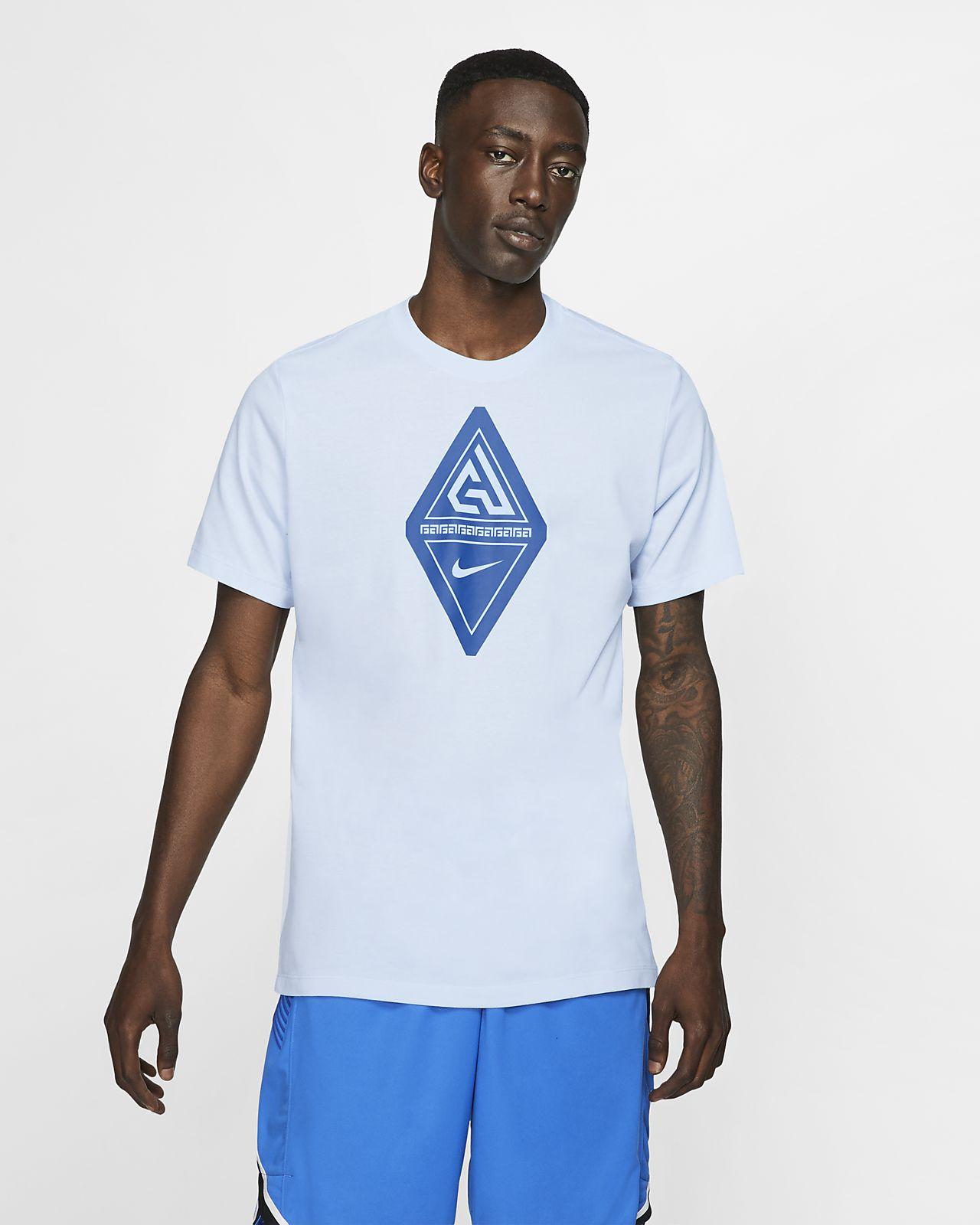 T-shirt de basquetebol com logótipo Giannis Nike Dri-FIT para homem