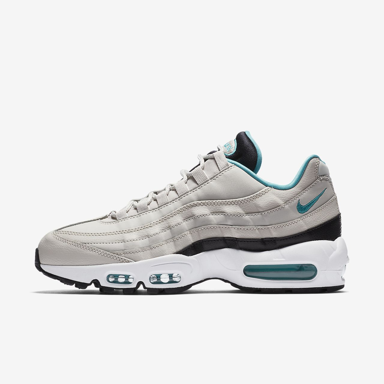 NIKE AIR MAX 95 SHOES  MENS LIFESTYLE SNEAKERS  BONE / TURQUOISE / BLACK