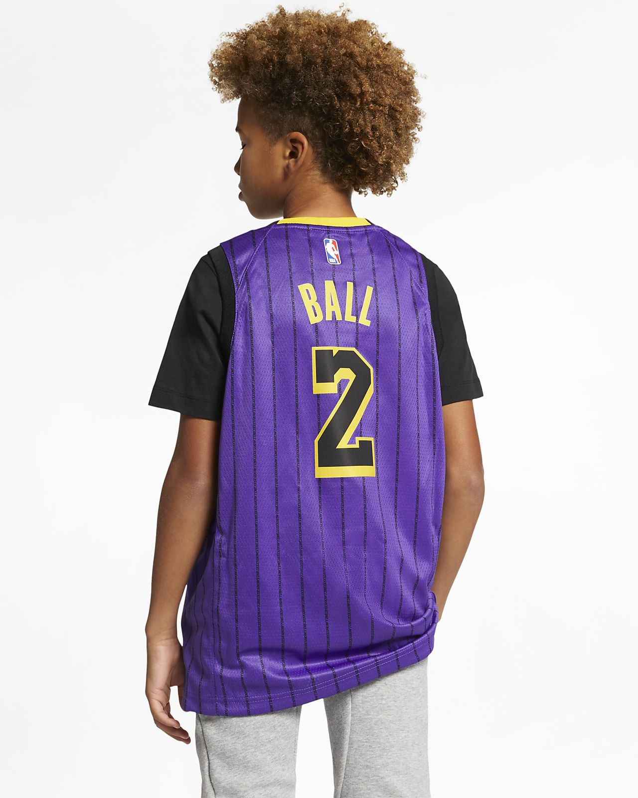 58c88ad025e1 Los Angeles Lakers City Edition Swingman Big Kids  Nike NBA Jersey ...