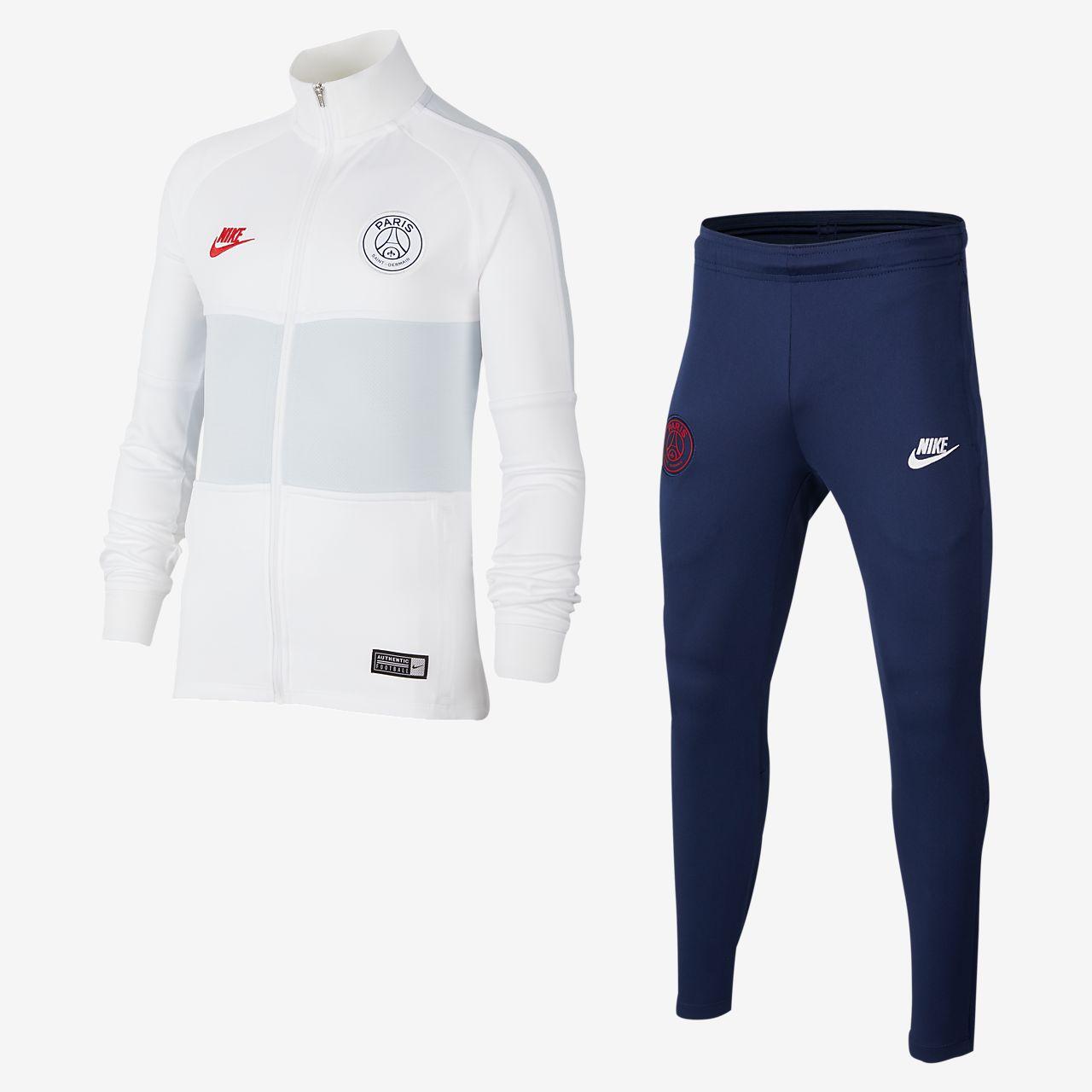 Conjunto de entrenamiento de fútbol para niño talla grande Nike Dri-FIT Paris Saint-Germain Strike
