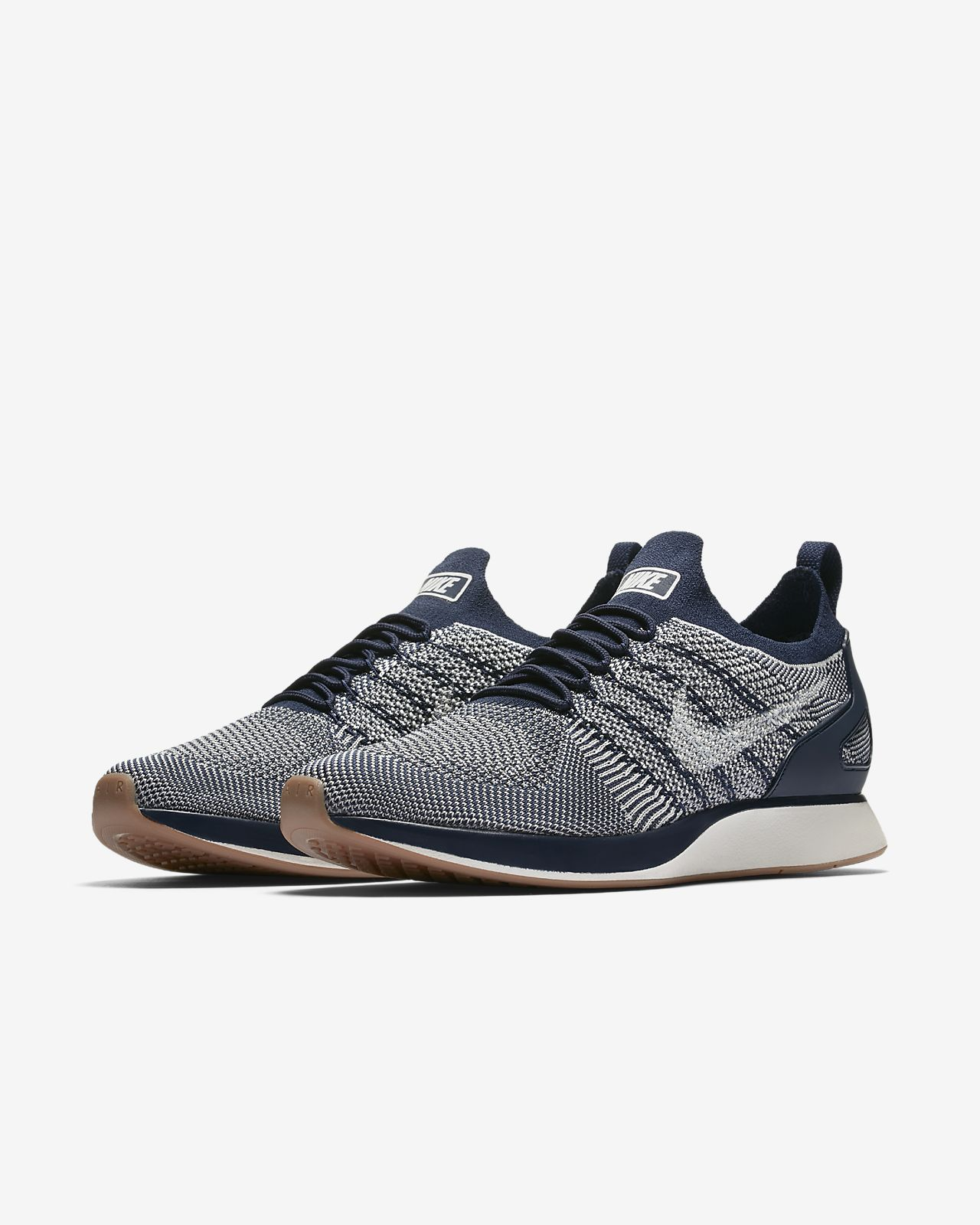 nikelab air max 1 flyknit racer blue black & purple nz