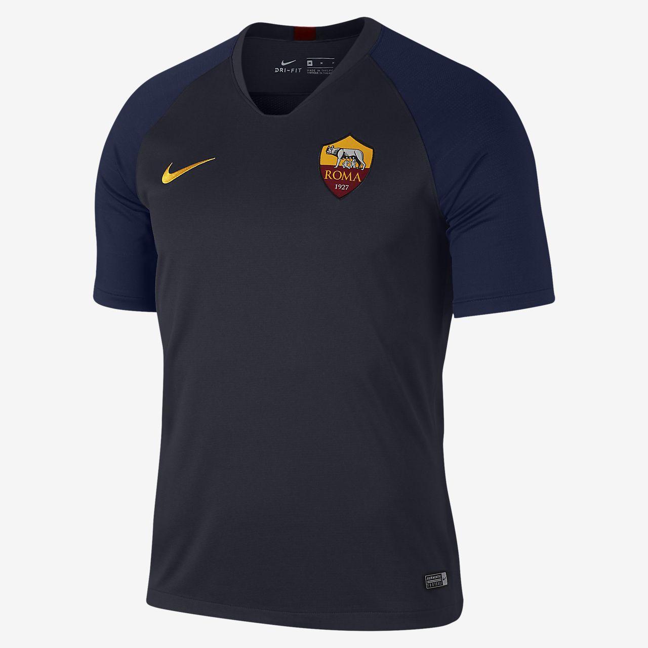 Haut de football à manches courtes Nike Breathe A.S. Roma Strike pour Homme