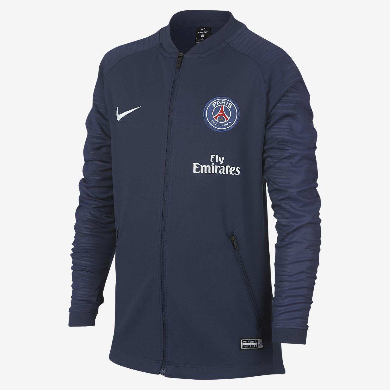 Paris Saint-Germain Anthem Older Kids' Football Jacket