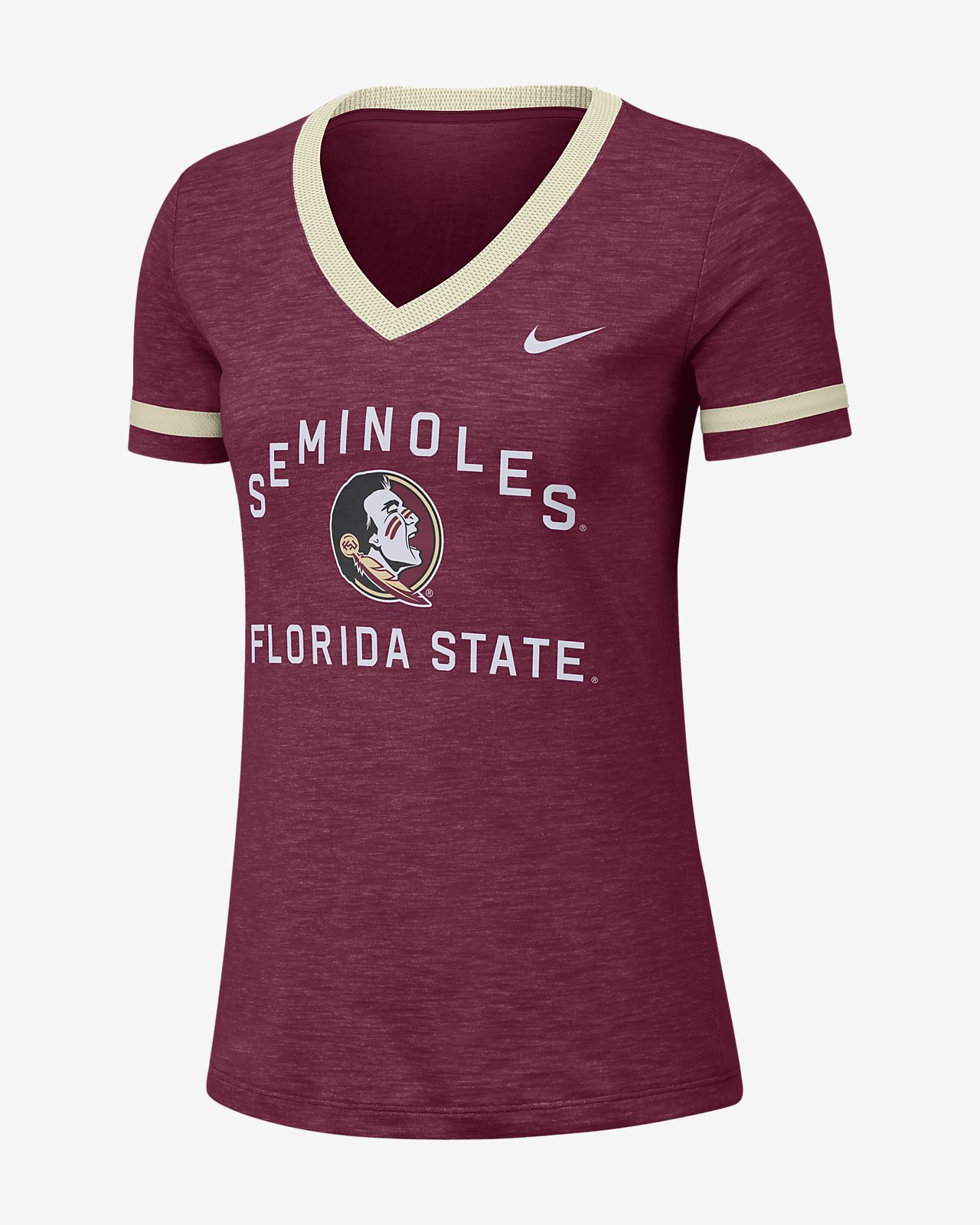 Nike College Dri-FIT Fan (Florida State) Women's Short-Sleeve V-Neck Top