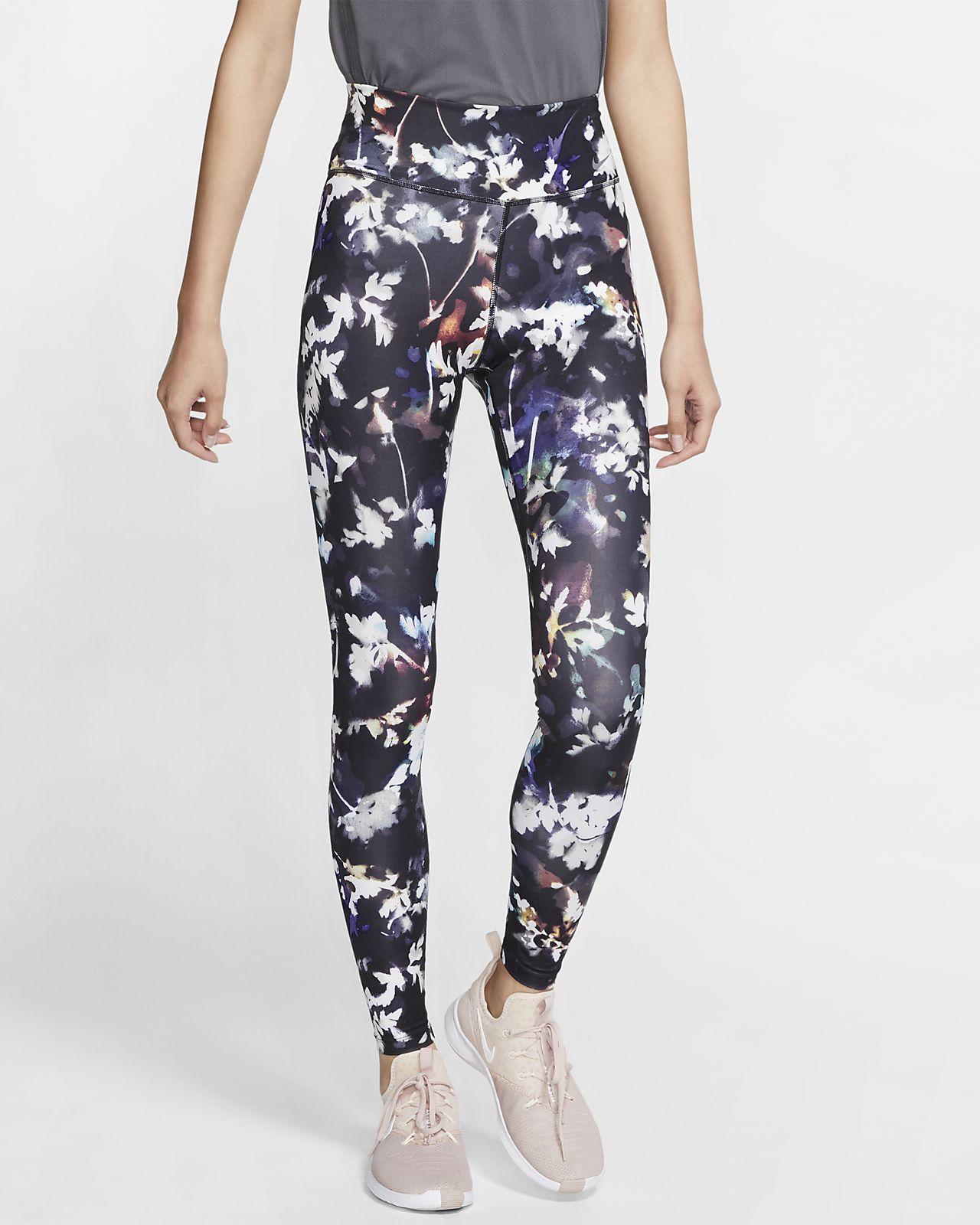 Nike One-tights med print til kvinder