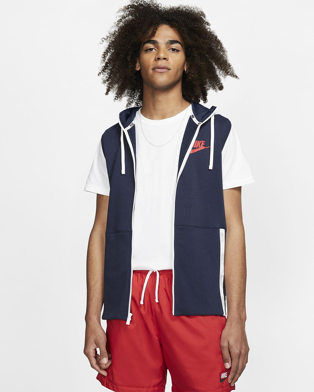 Nike Sportswear hosszú cipzáras, kapucnis férfipulóver