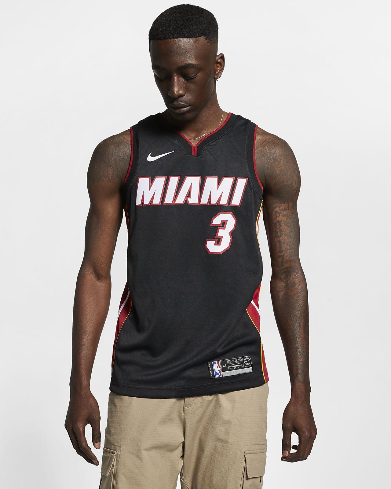 Dwyane Wade Heat Icon Edition Nike NBA Swingman Jersey för män