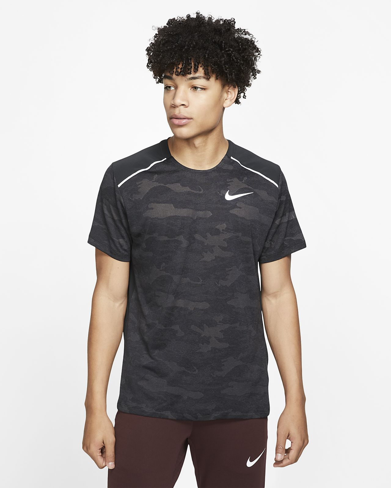 Pánské běžecké tričko Nike TechKnit s krátkým rukávem