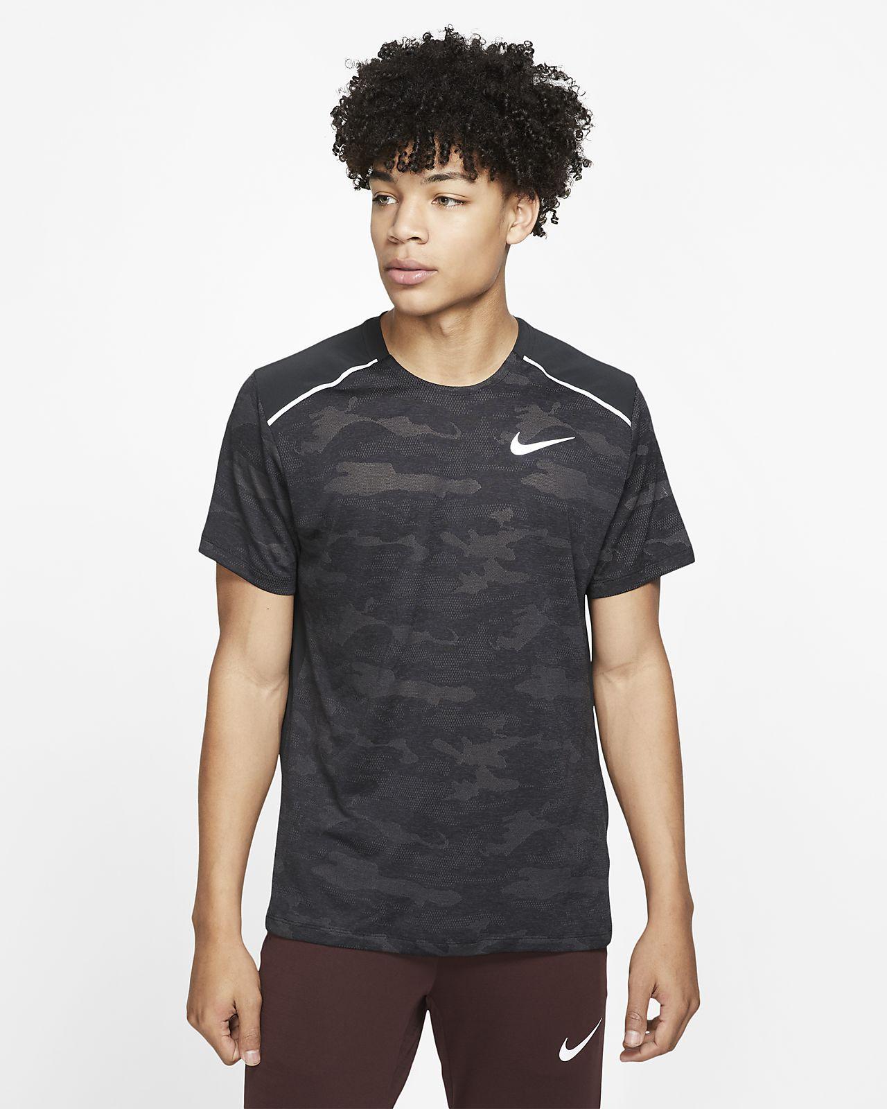 Nike TechKnit-kortærmet løbeoverdel til mænd