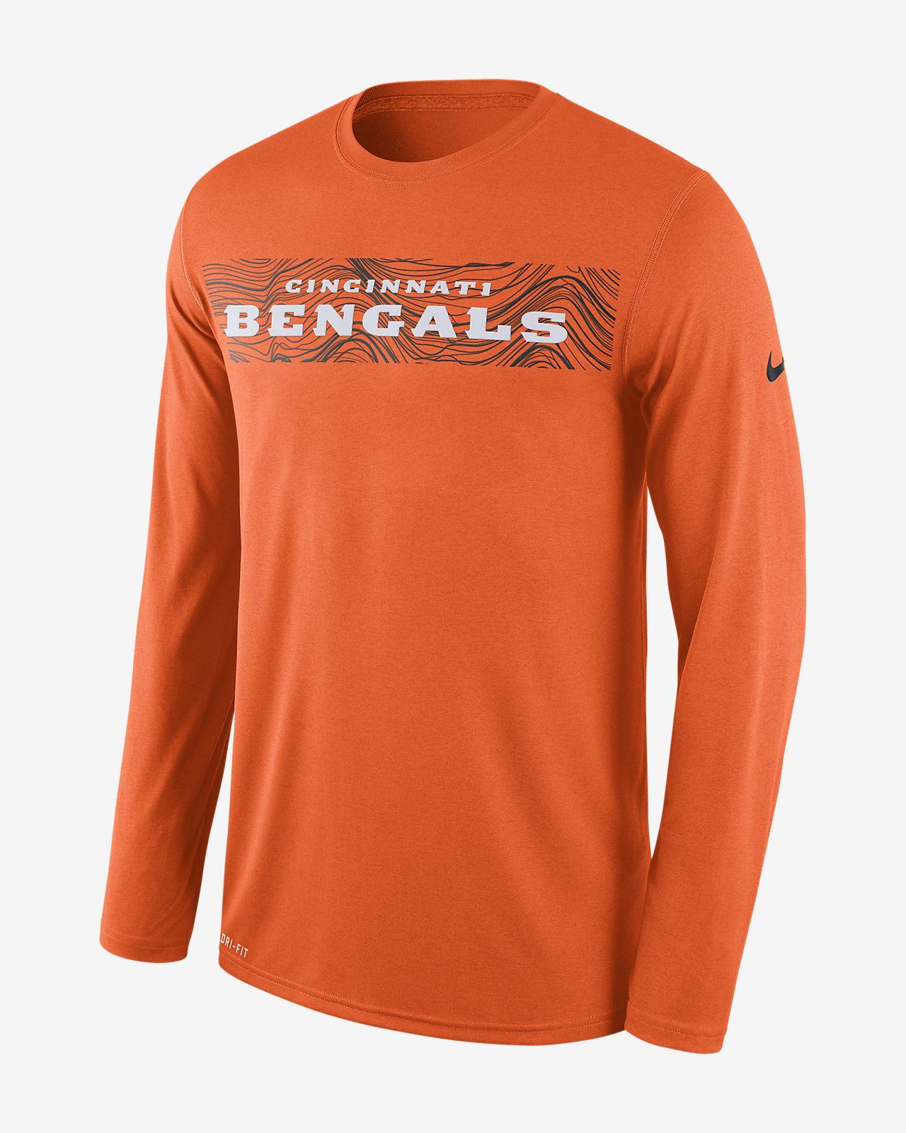 Nike Dri-FIT Legend Seismic (NFL Bengals) Men s Long Sleeve T-Shirt ... 8fbd3690b