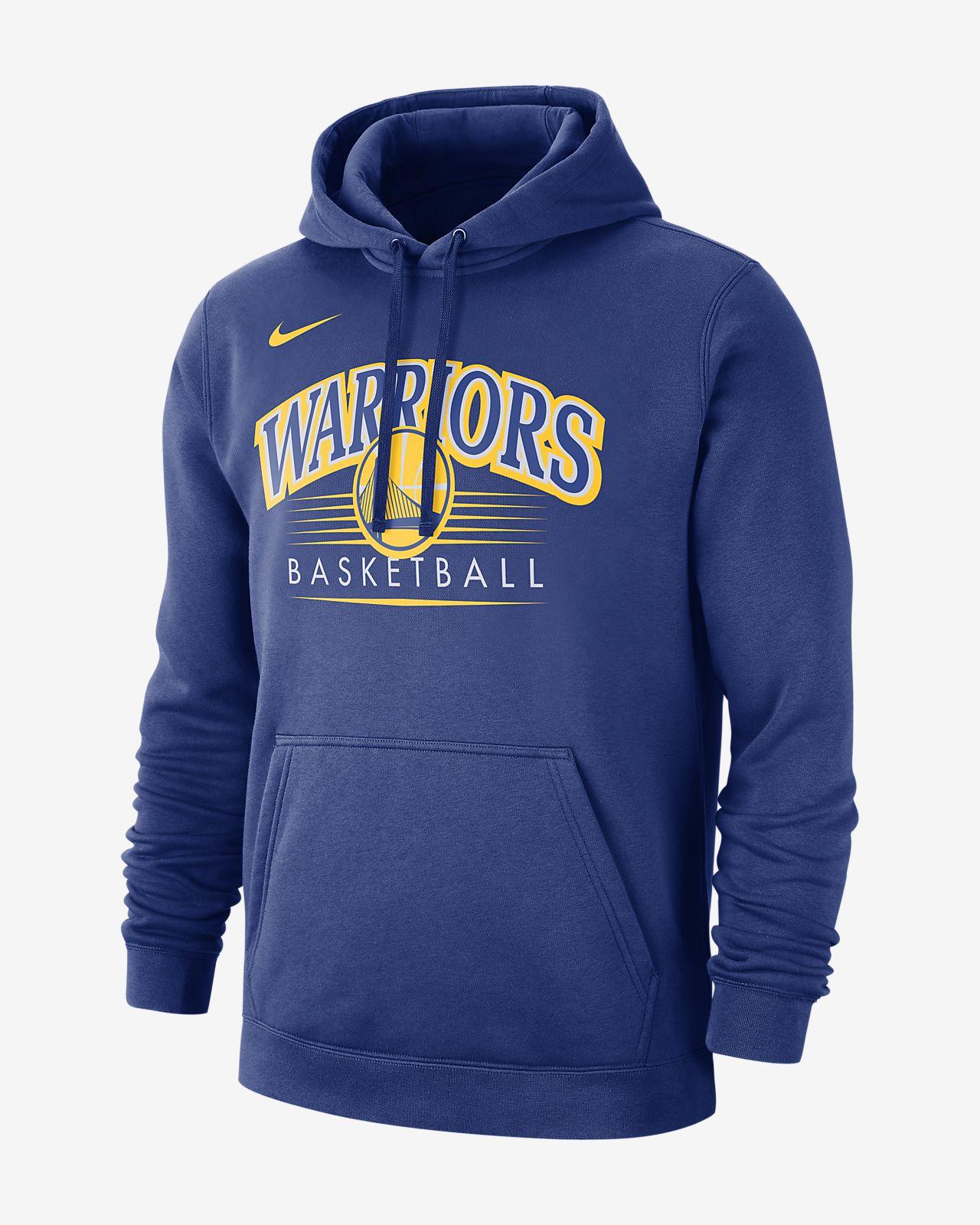 Golden State Warriors Nike NBA-s kapucnis férfipulóver