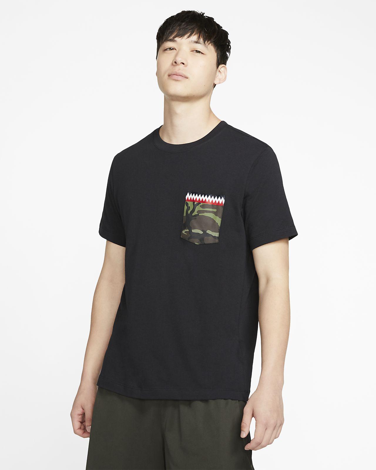 Basket-t-shirt med ficka Nike DNA för män