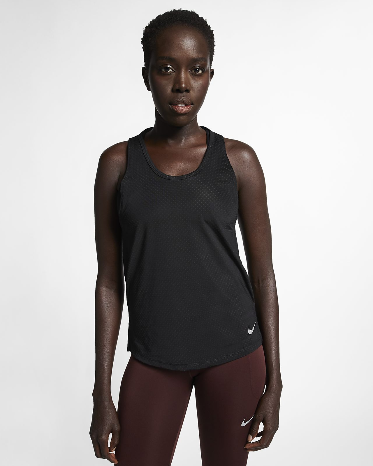 Nike Breathe Miler Lauf-Tanktop für Damen