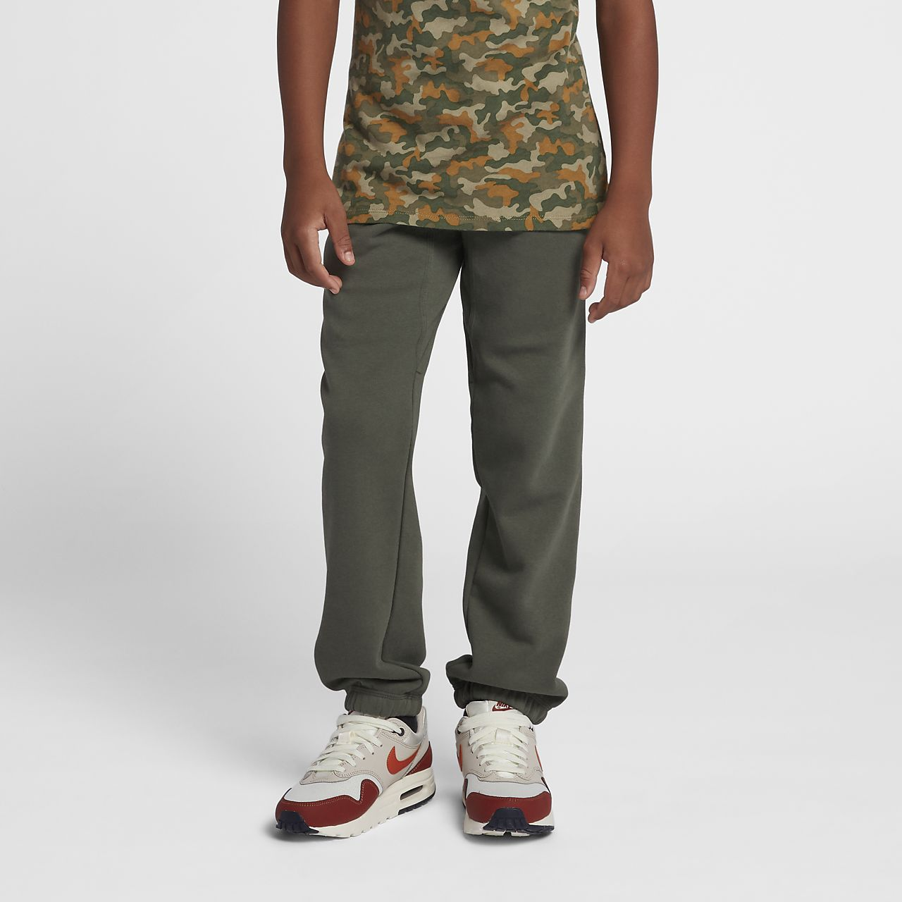 Nike Brushed-Fleece Cuffed-joggebukse for gutt