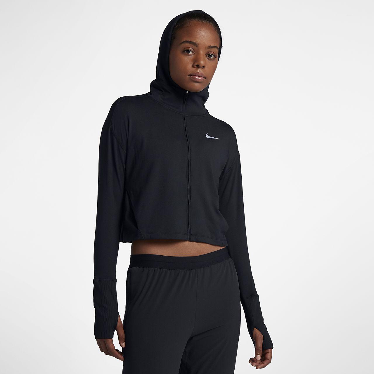Nike Hardloophoodie met rits voor dames