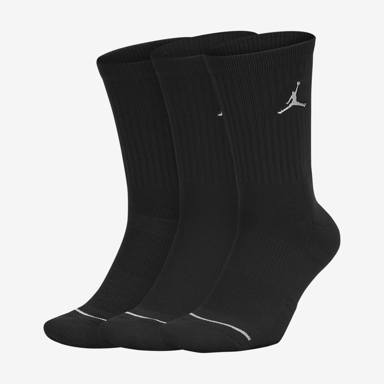 Jordan Jumpman Crew Basketball Socks (3 Pair)