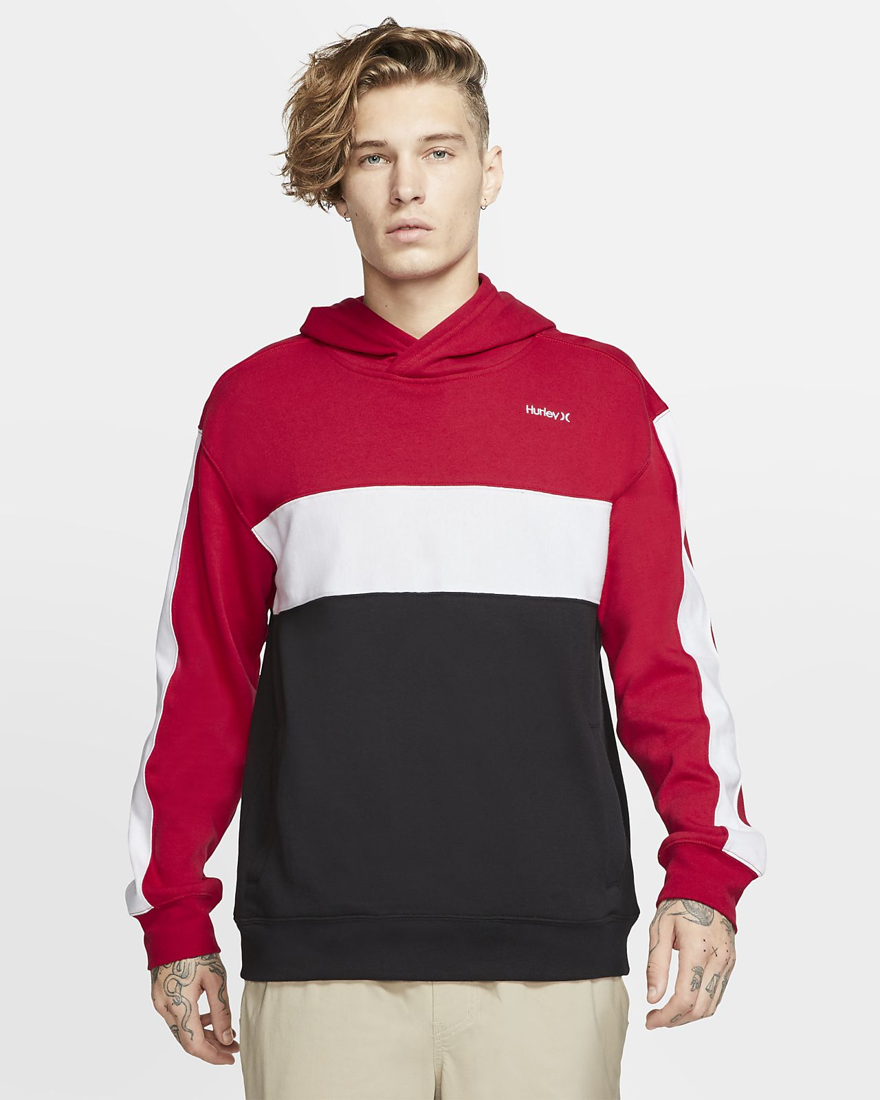 Hurley Blocked Men's Fleece Pullover Hoodie