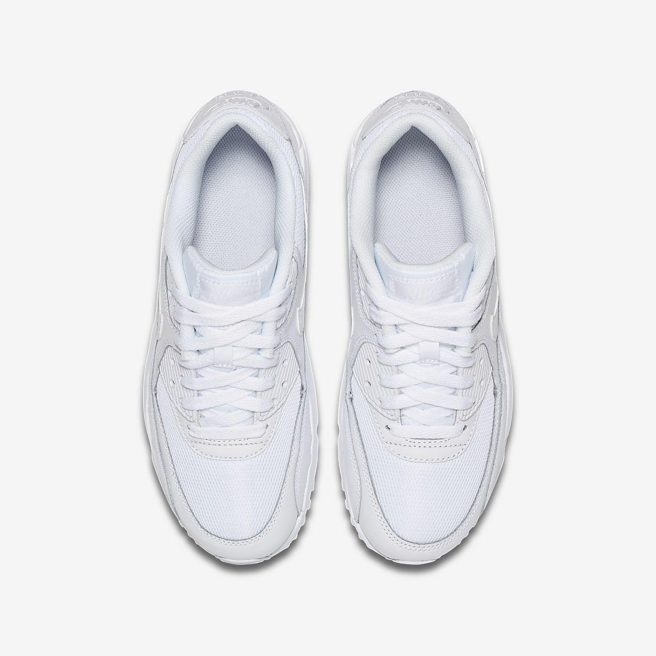 Zapatillas Casual Niña Nike Air Max 90 Mesh Blancas