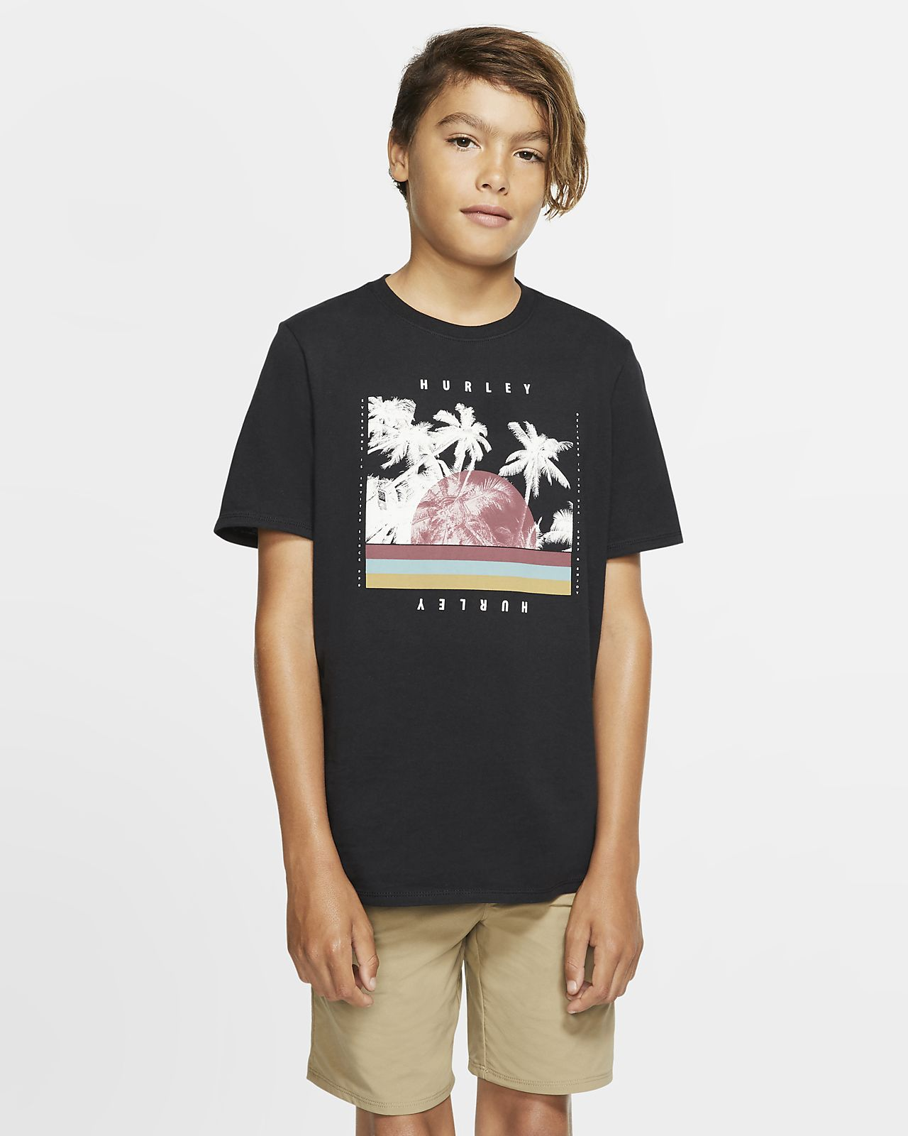 Tee-shirt coupe Premium Hurley Premium Palm Retro pour Garçon