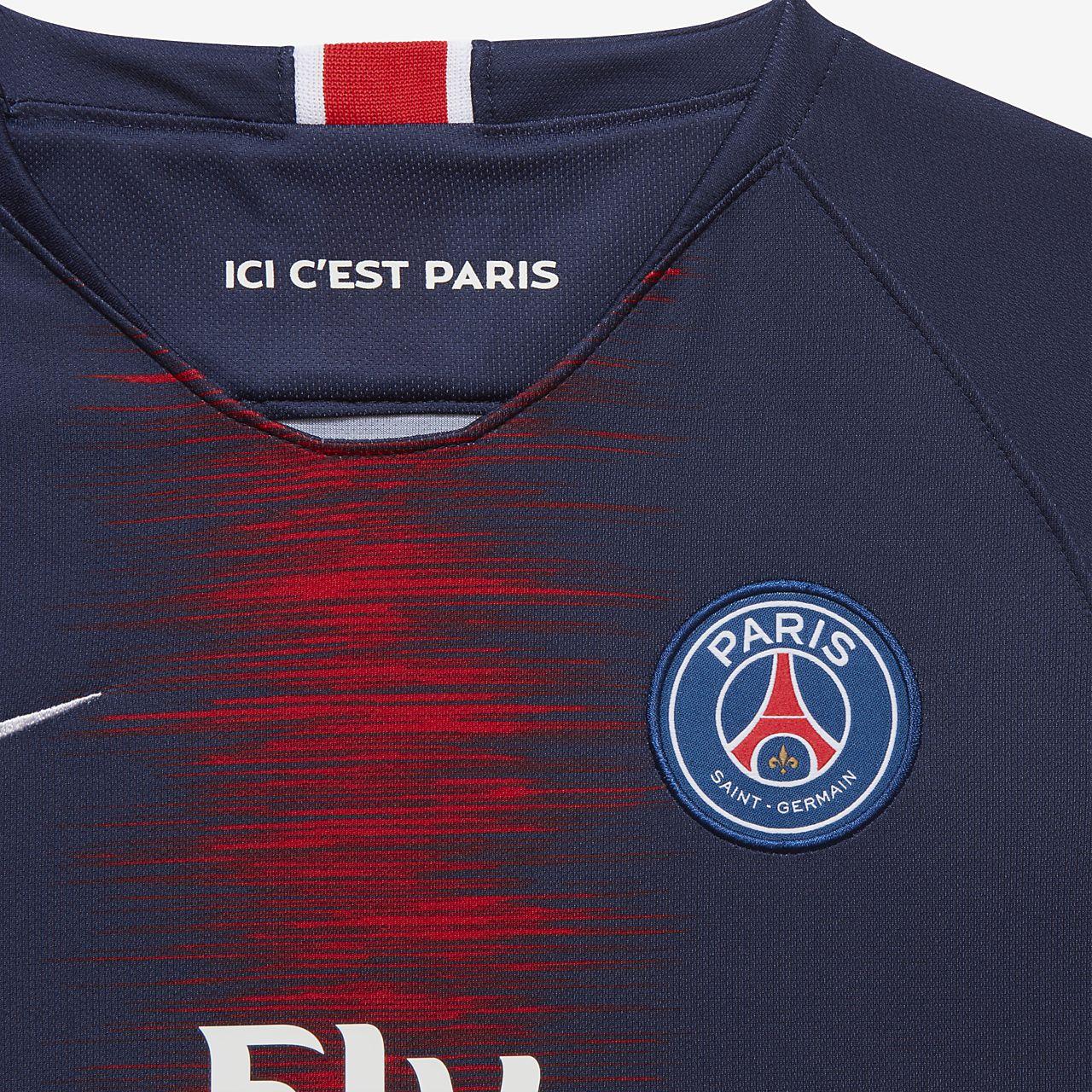 121be70a ... 2018/19 Paris Saint-Germain Stadium Home Older Kids' Football Shirt