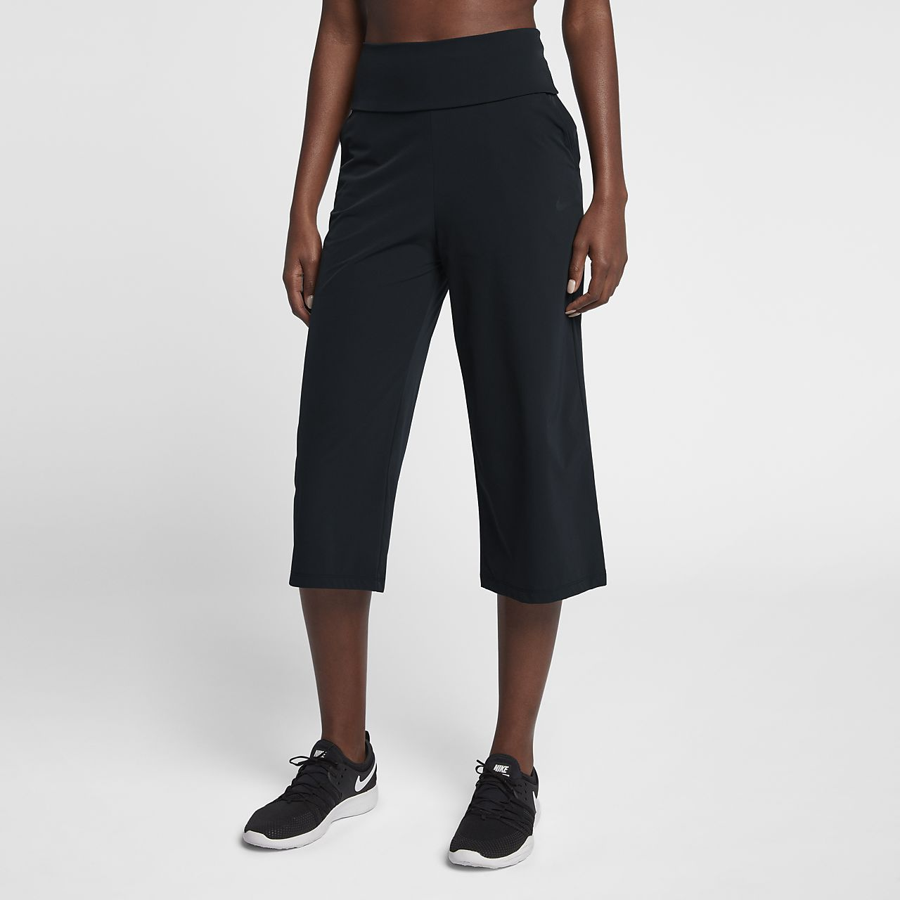 ... Nike Bliss Studio Women's High-Waisted Training Trousers
