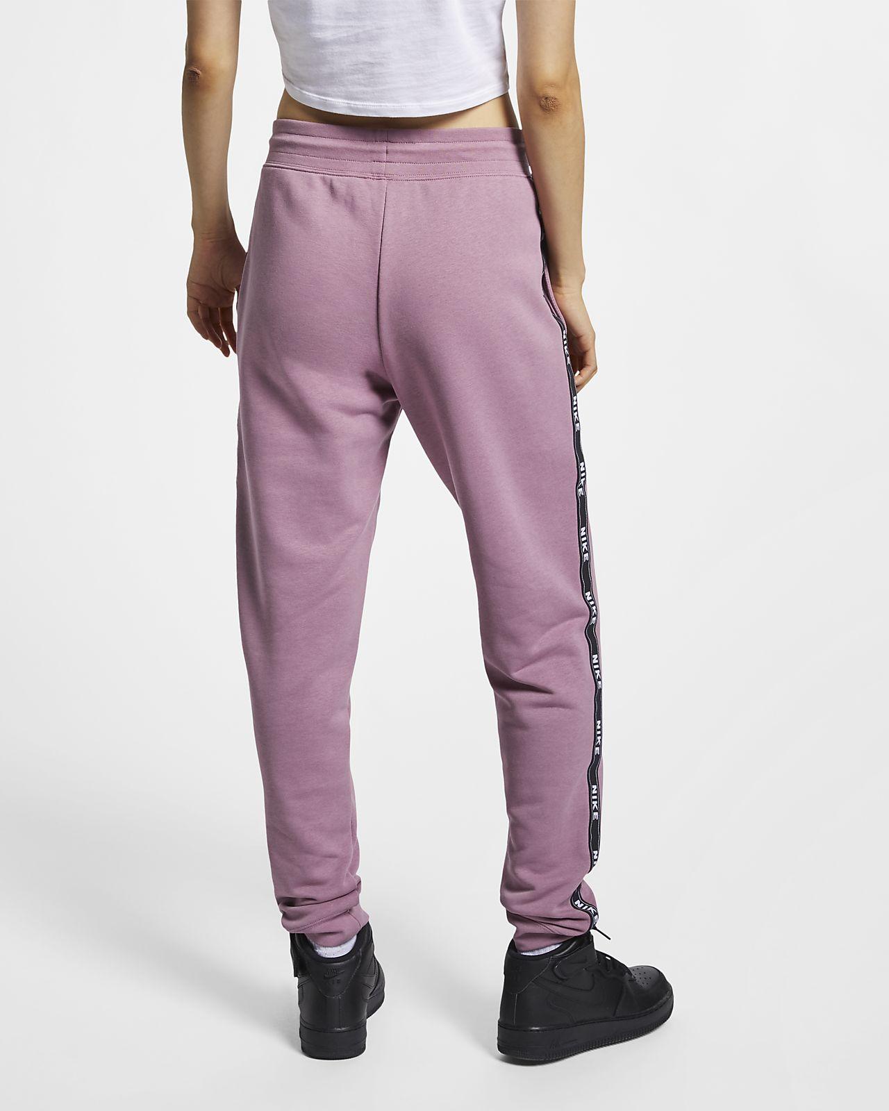 Nike W NSW Pant Logo Tape rosa