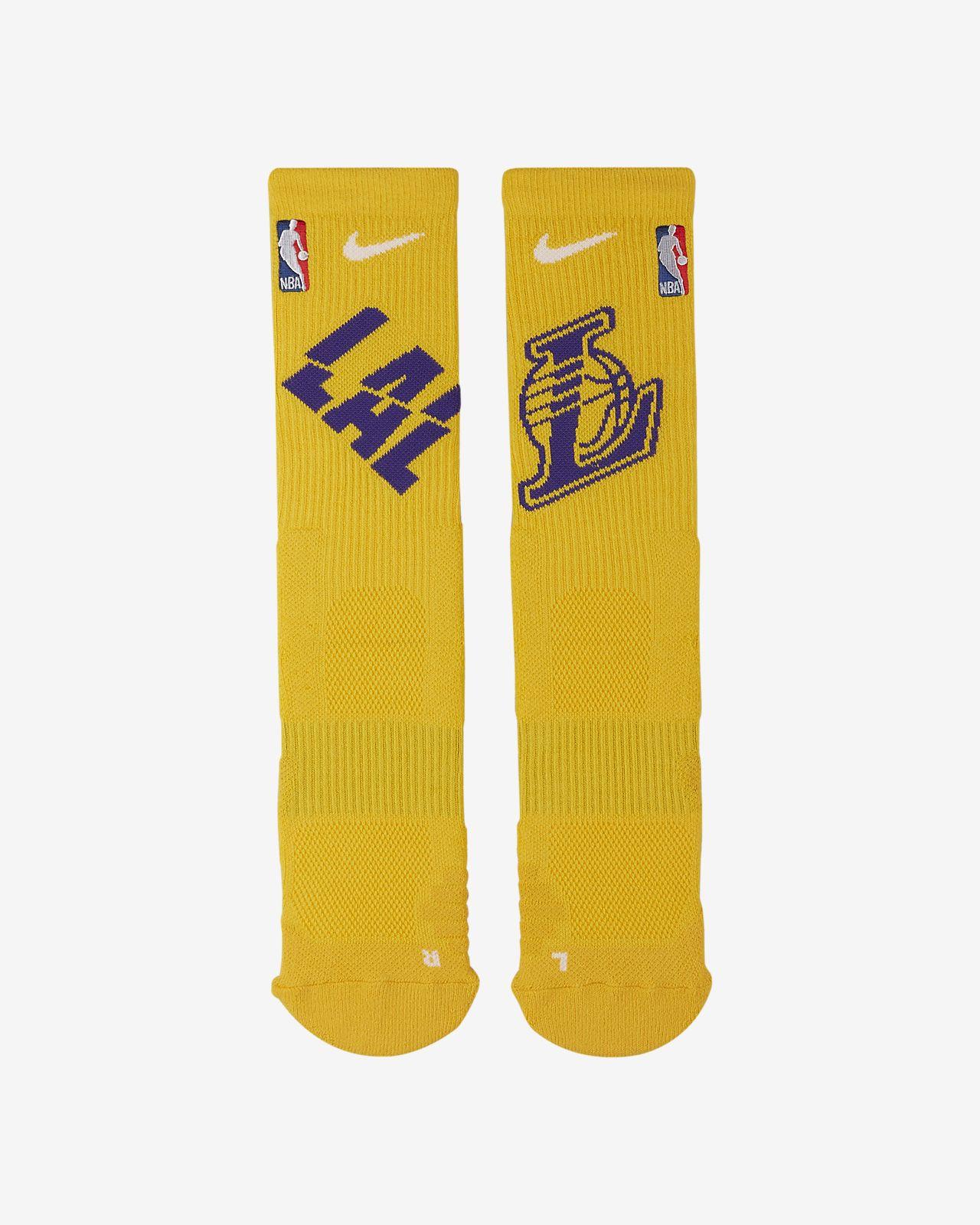 Los Angeles Lakers Nike Elite NBA 中筒襪