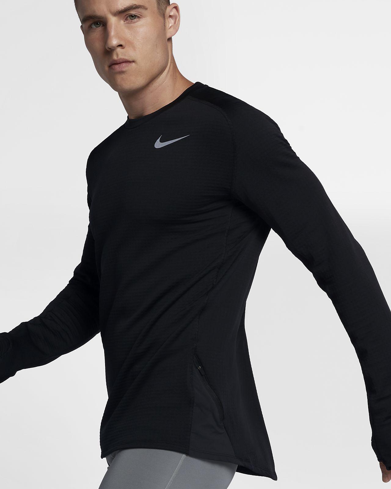 Langærmet Nike Therma Sphere-løbeoverdel til mænd