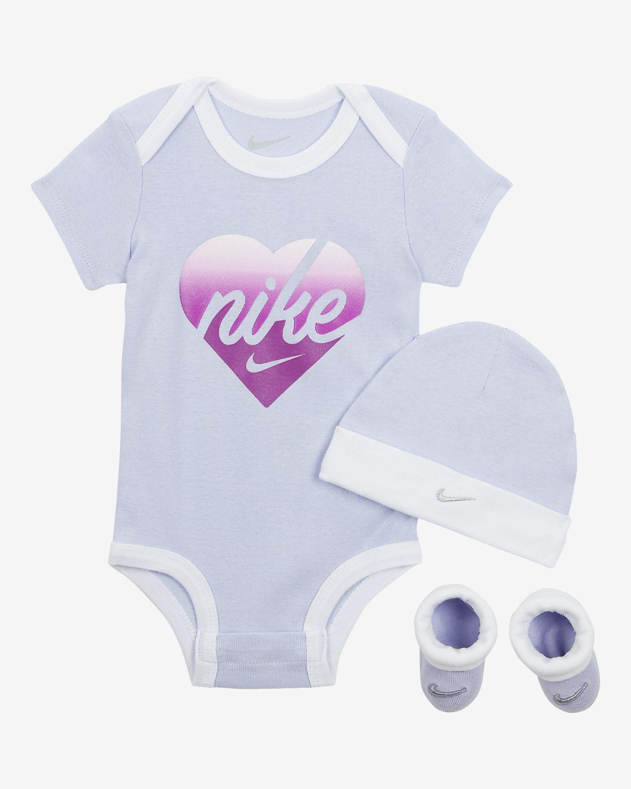 Babys für aus BodysuitMütze Nike Schühchen und Set PkXOuiZ