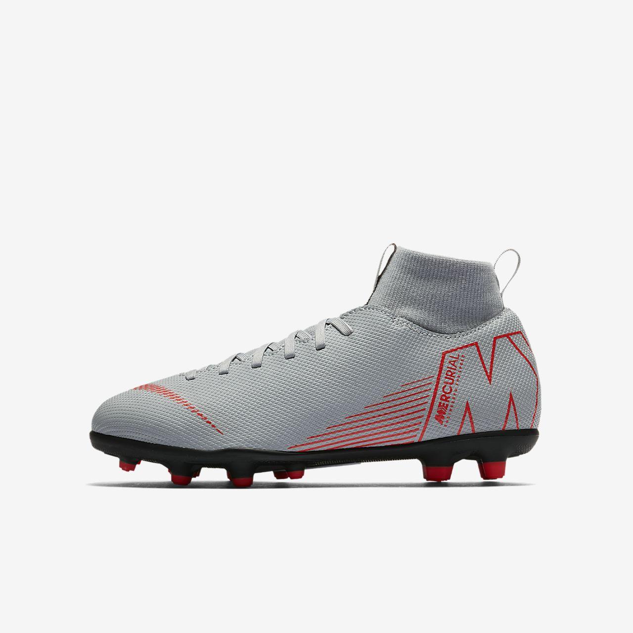 Nike Jr. Mercurial Superfly VI Club Fußballschuh für verschiedene Böden für jüngereältere Kinder