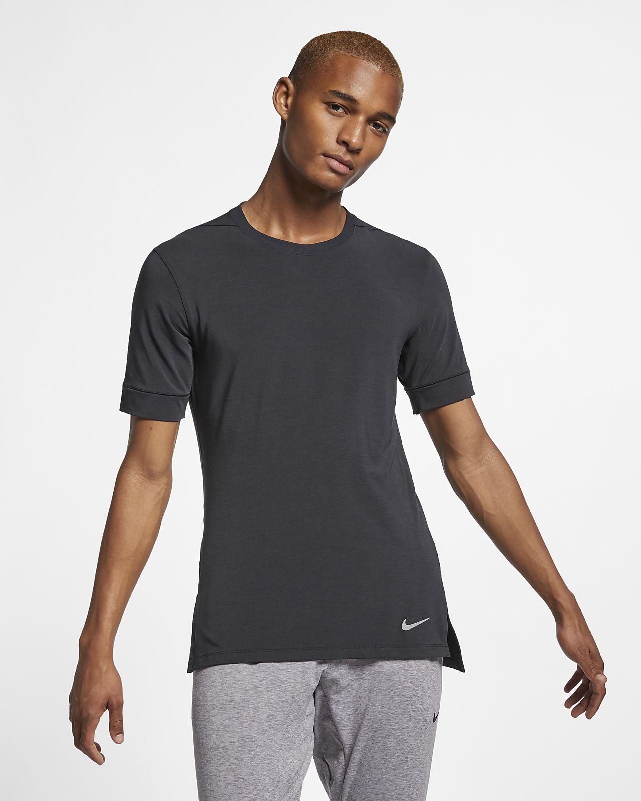 Ανδρική κοντομάνικη μπλούζα προπόνησης γιόγκα Nike Dri-FIT