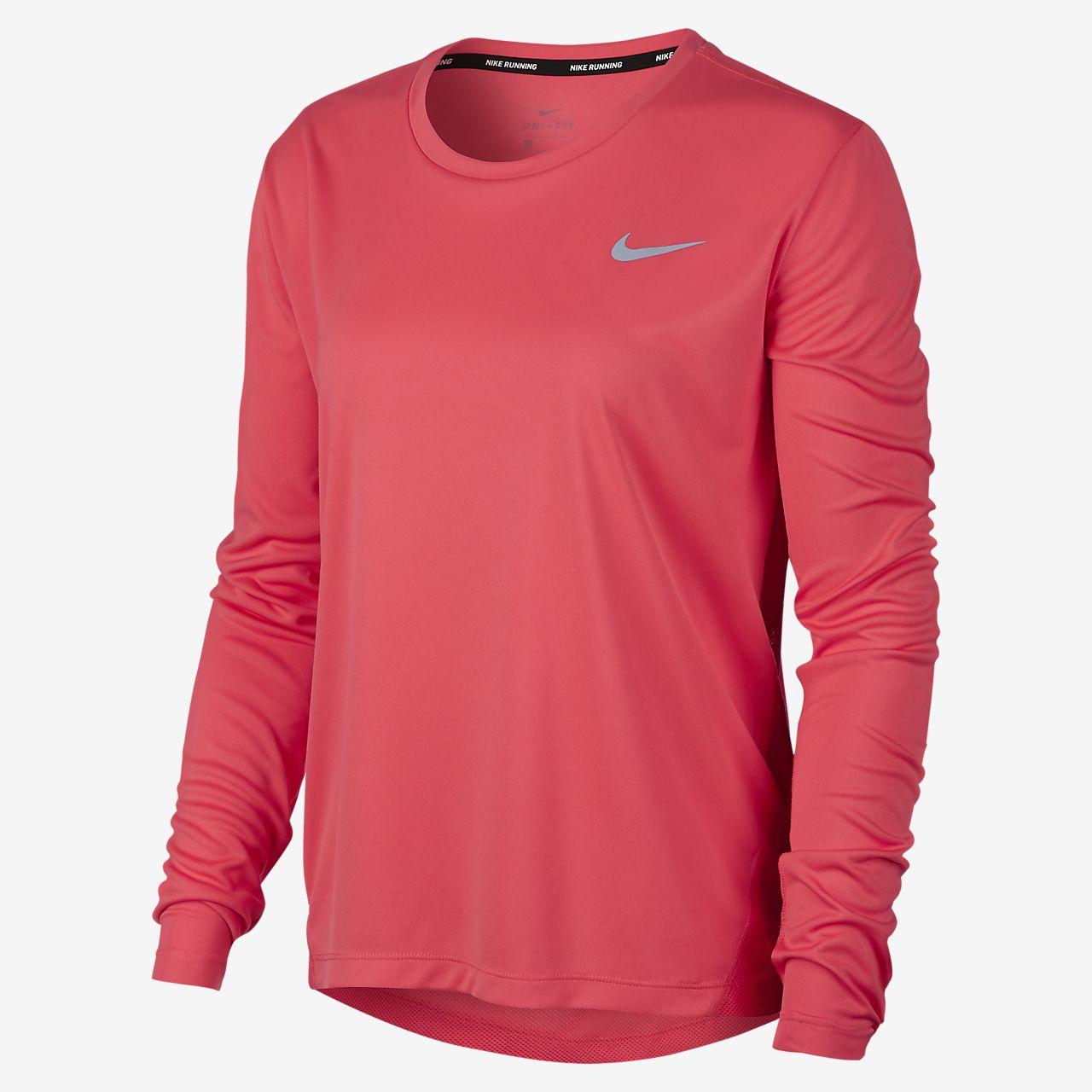 1e97d2ae Nike Ladies Miler Uv Long Sleeve Running Shirt – EDGE Engineering ...