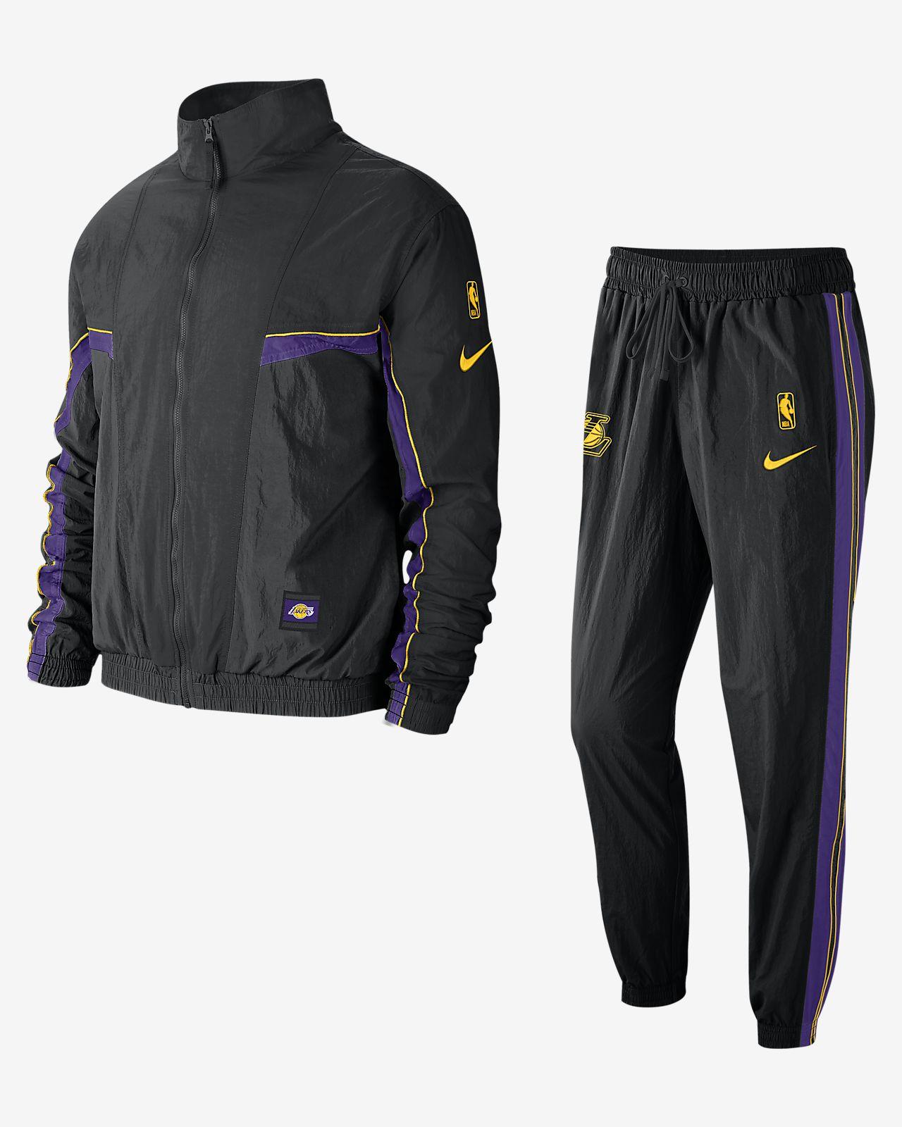 Conjunto de entrenamiento de la NBA para hombre Los Angeles Lakers Nike