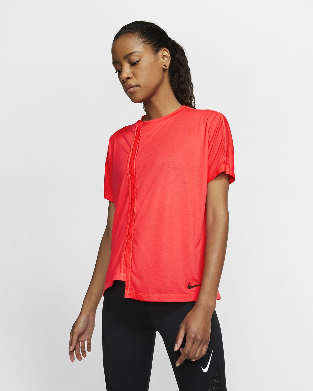 Γυναικεία κοντομάνικη μπλούζα για τρέξιμο Nike