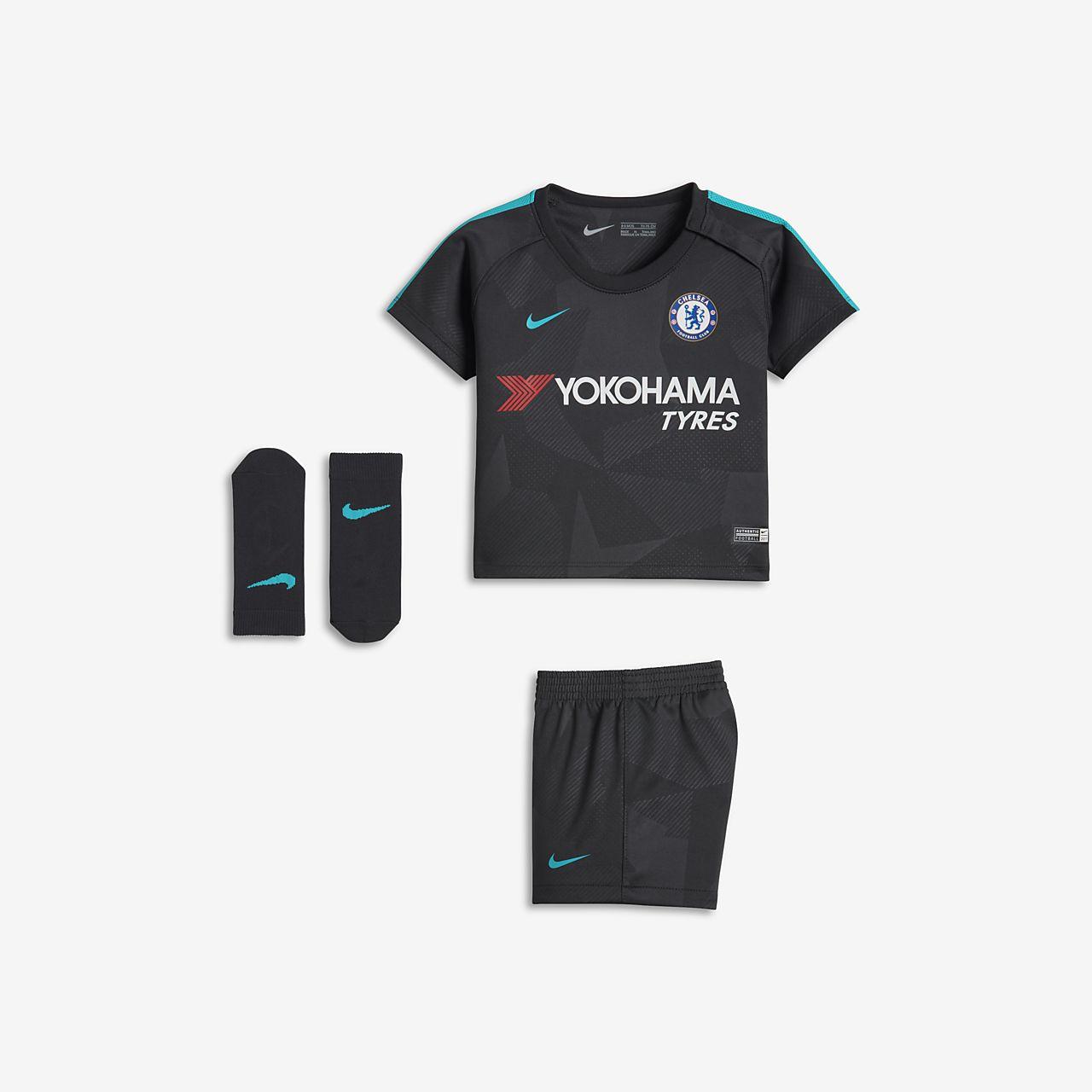 2017 18 Chelsea FC Stadium Third Baby   Toddler Football Kit. Nike ... 9f06e9dc4