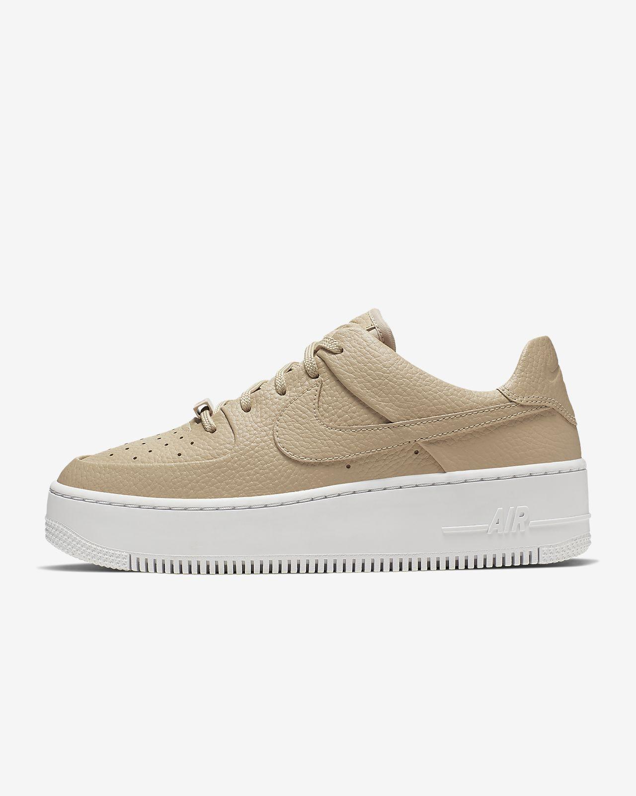 nike air force 1 mujer beige