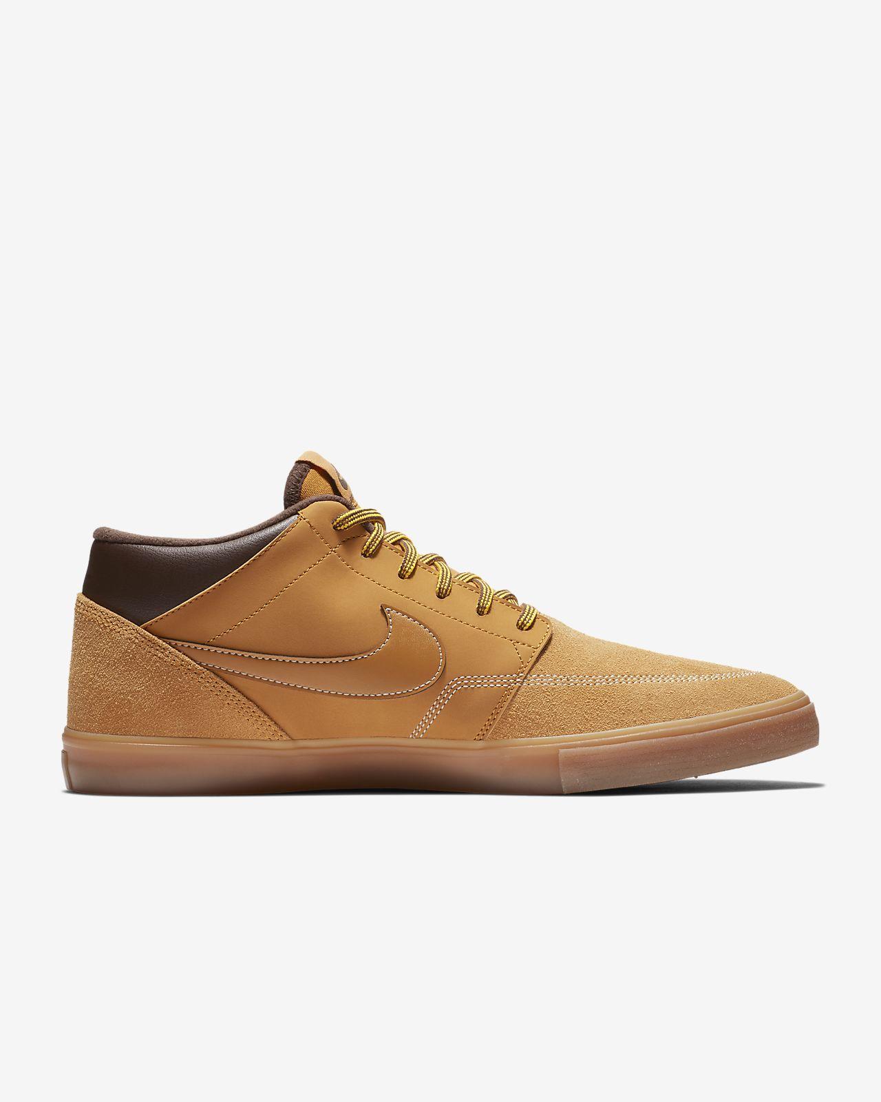 Nike SB Portmore II Solarsoft Mid Bota Skateboarding Shoe. Nike.com SA 0f4db070b38e2