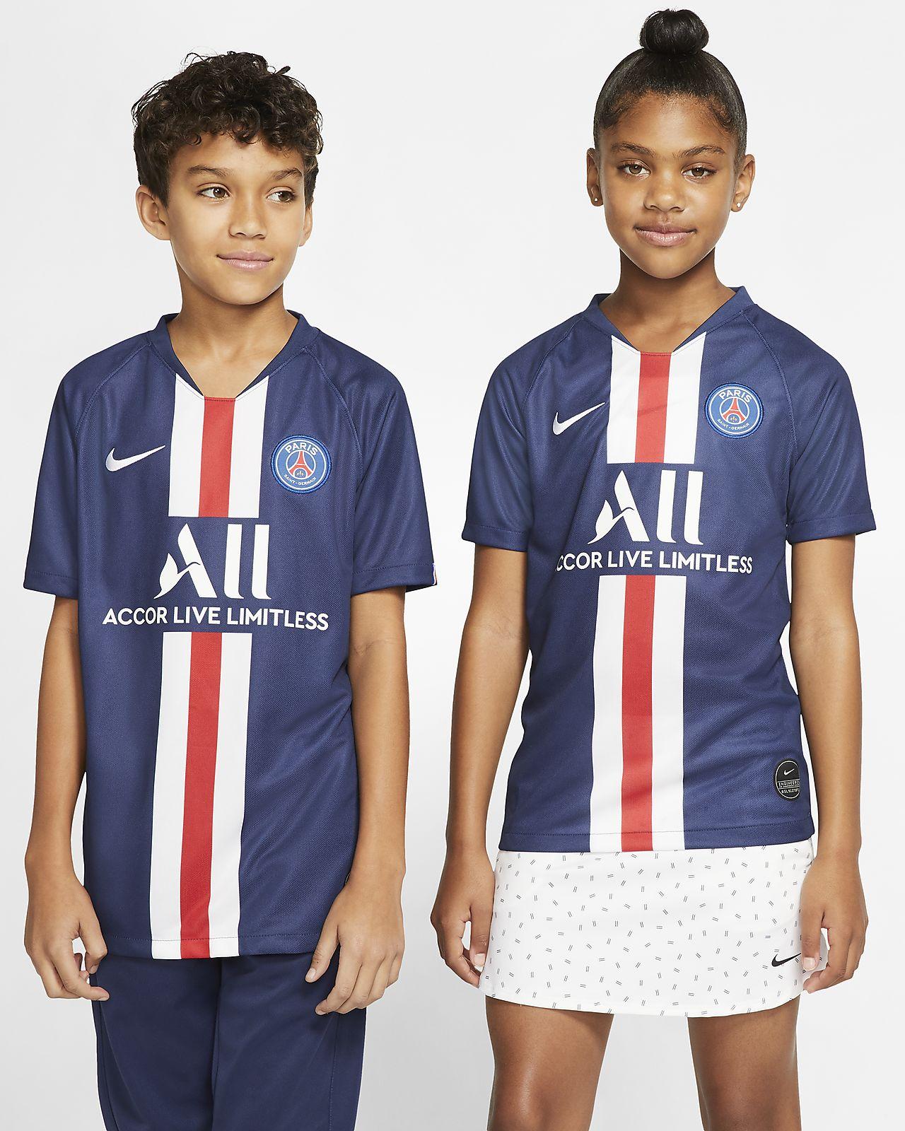 Paris Saint-Germain 2019/20 Stadium Home Big Kids' Soccer Jersey