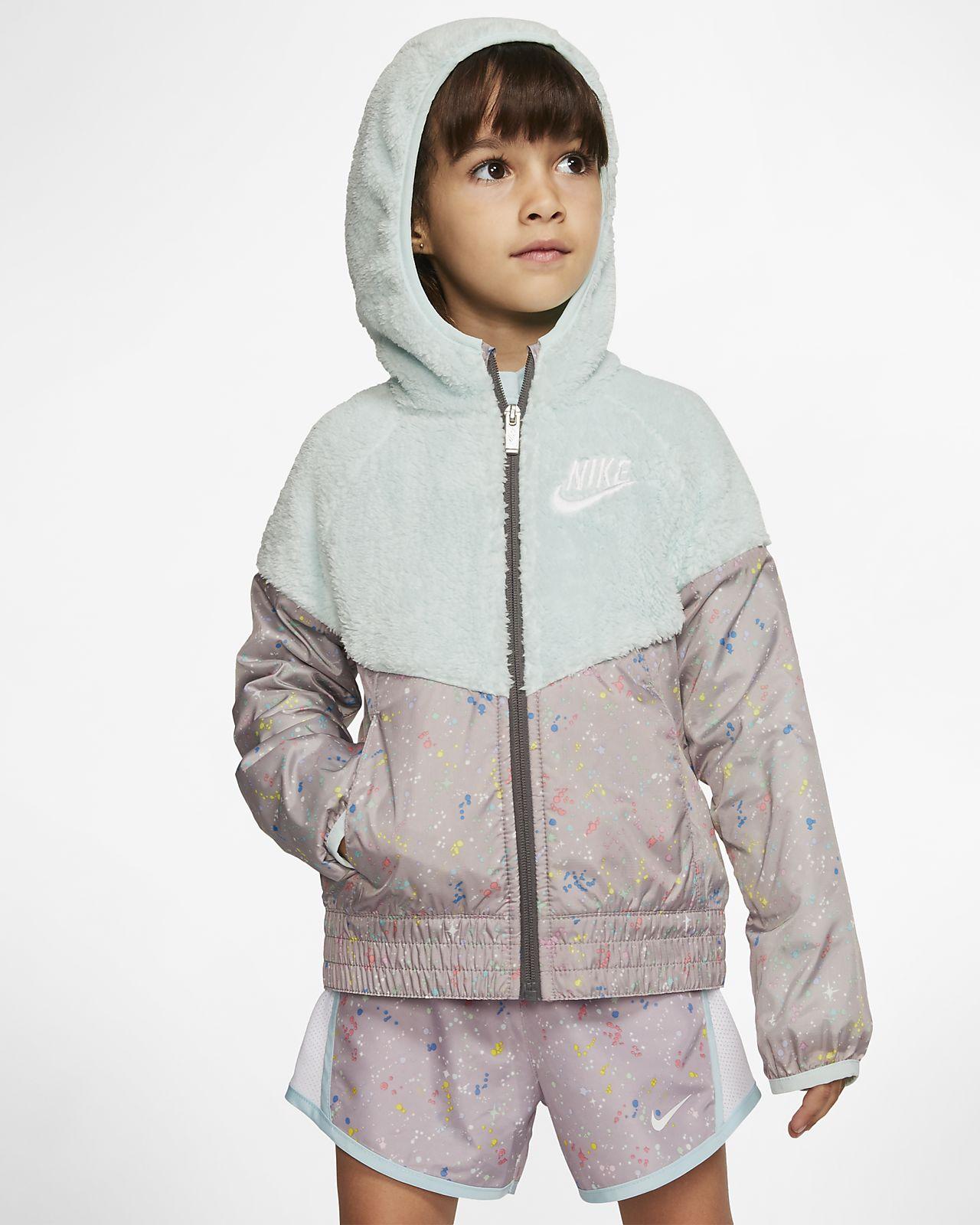 Nike Sportswear Windrunner Little Kids' Sherpa Jacket