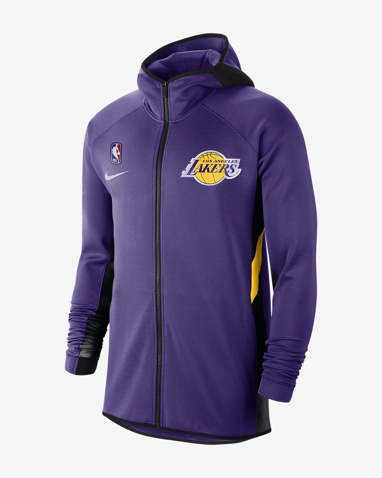 Los Angeles Lakers Nike Therma Flex Showtime NBA Erkek Kapüşonlu Üst