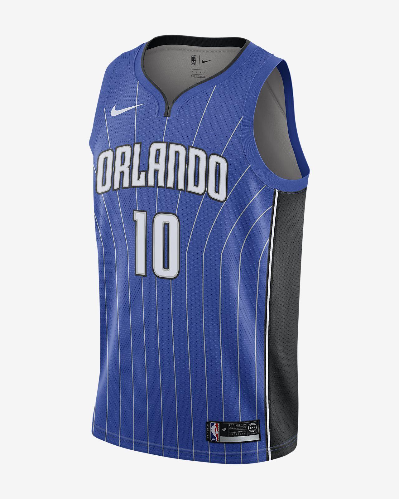 Evan Fournier Icon Edition Swingman (Orlando Magic) tilkoblet Nike NBA-drakt til herre